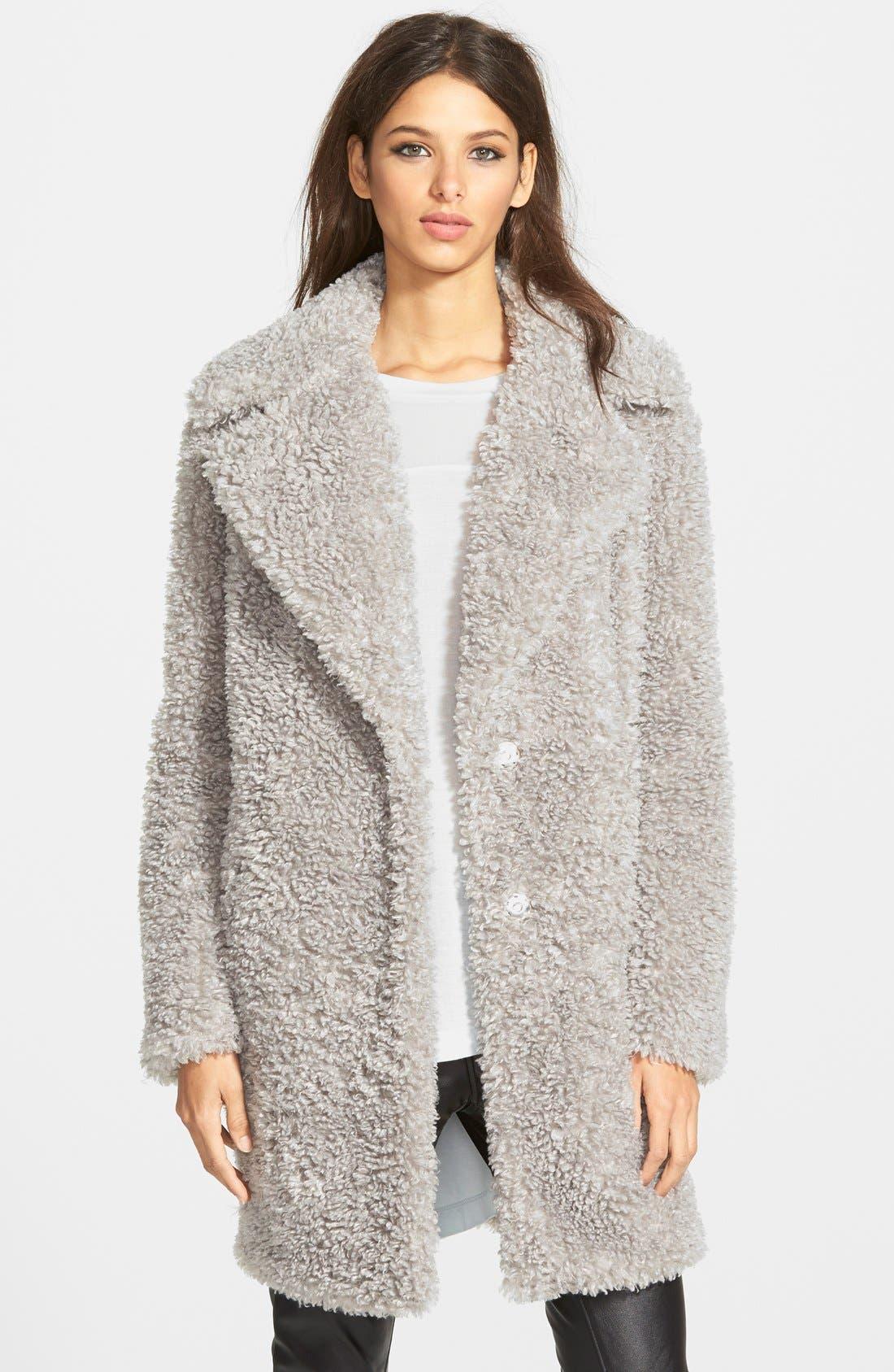 'Teddy Bear' Notch Collar Reversible Faux Fur Coat,                             Main thumbnail 2, color,