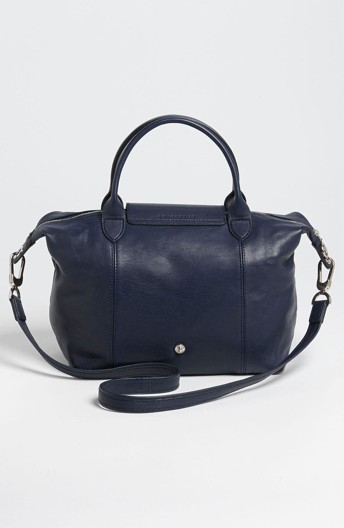 Small 'Le Pliage Cuir' Leather Top Handle Tote,                             Alternate thumbnail 50, color,