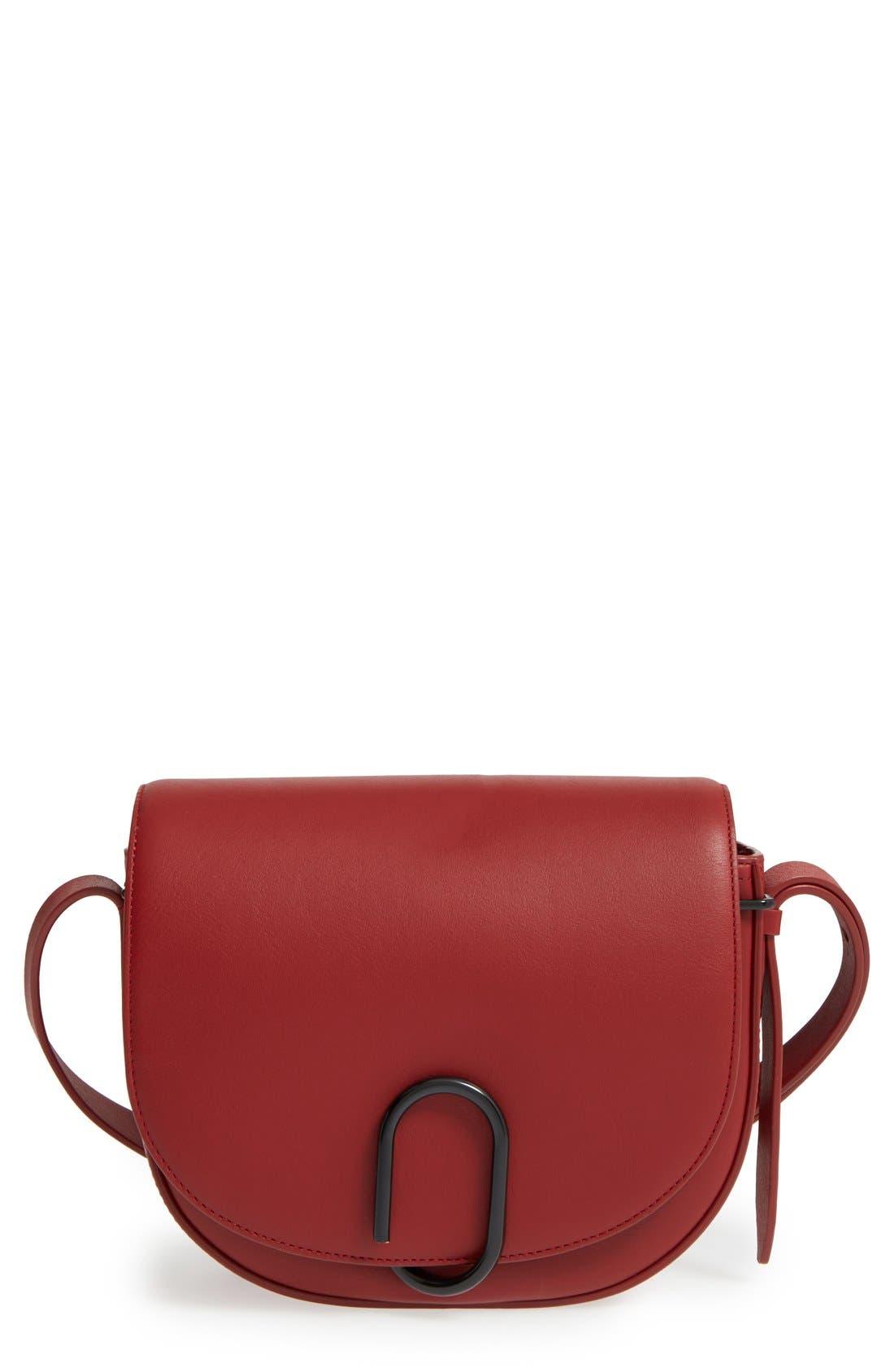 Alix Leather Saddle Bag,                             Main thumbnail 3, color,