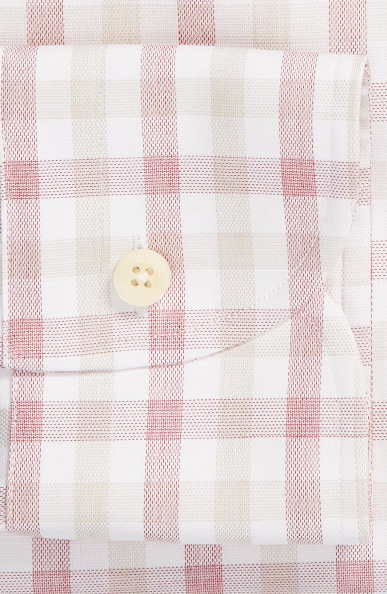 Corbly Trim Fit Check Dress Shirt,                             Alternate thumbnail 6, color,                             RED