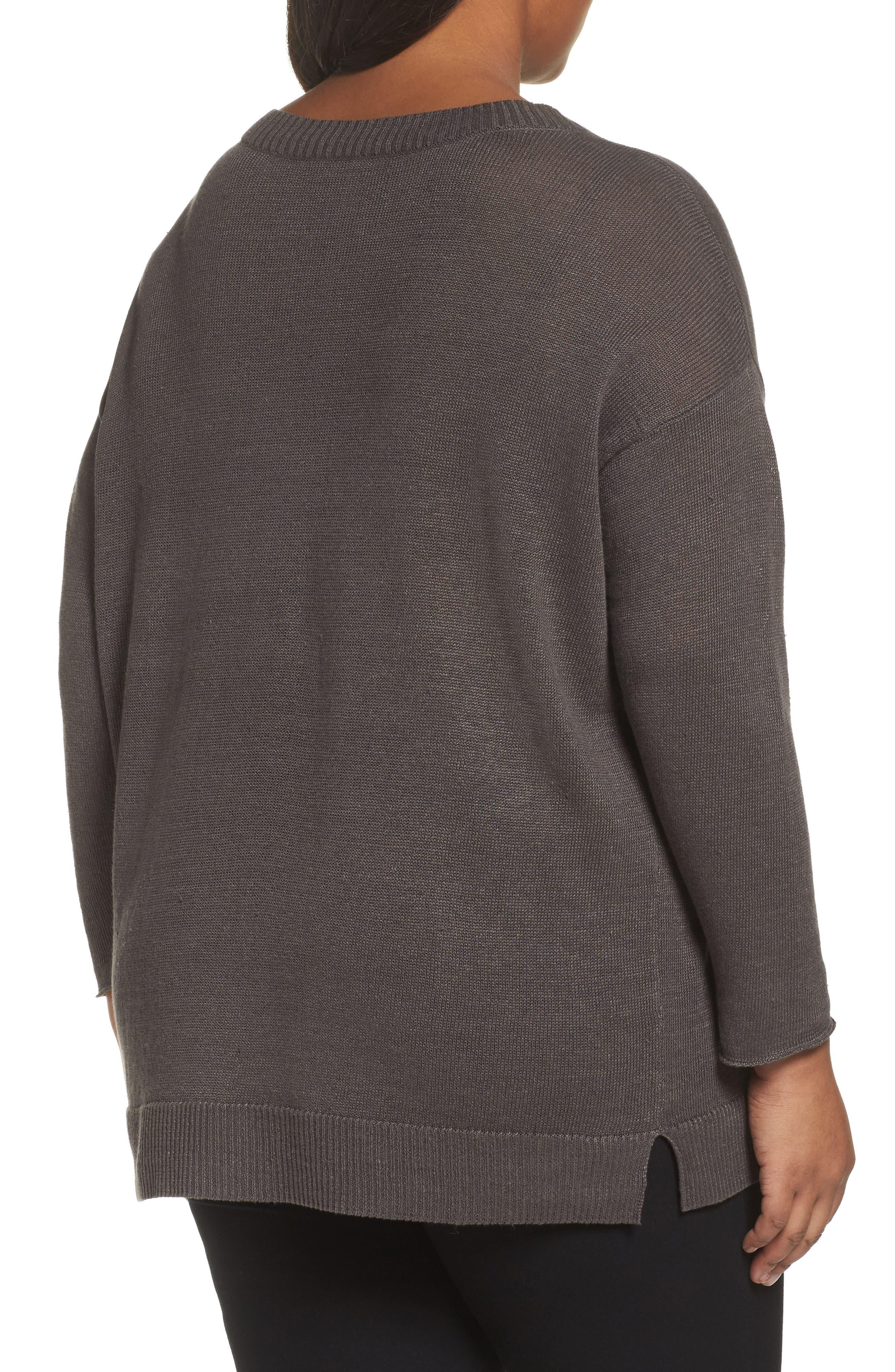 Organic Linen Sweater,                             Alternate thumbnail 2, color,                             245