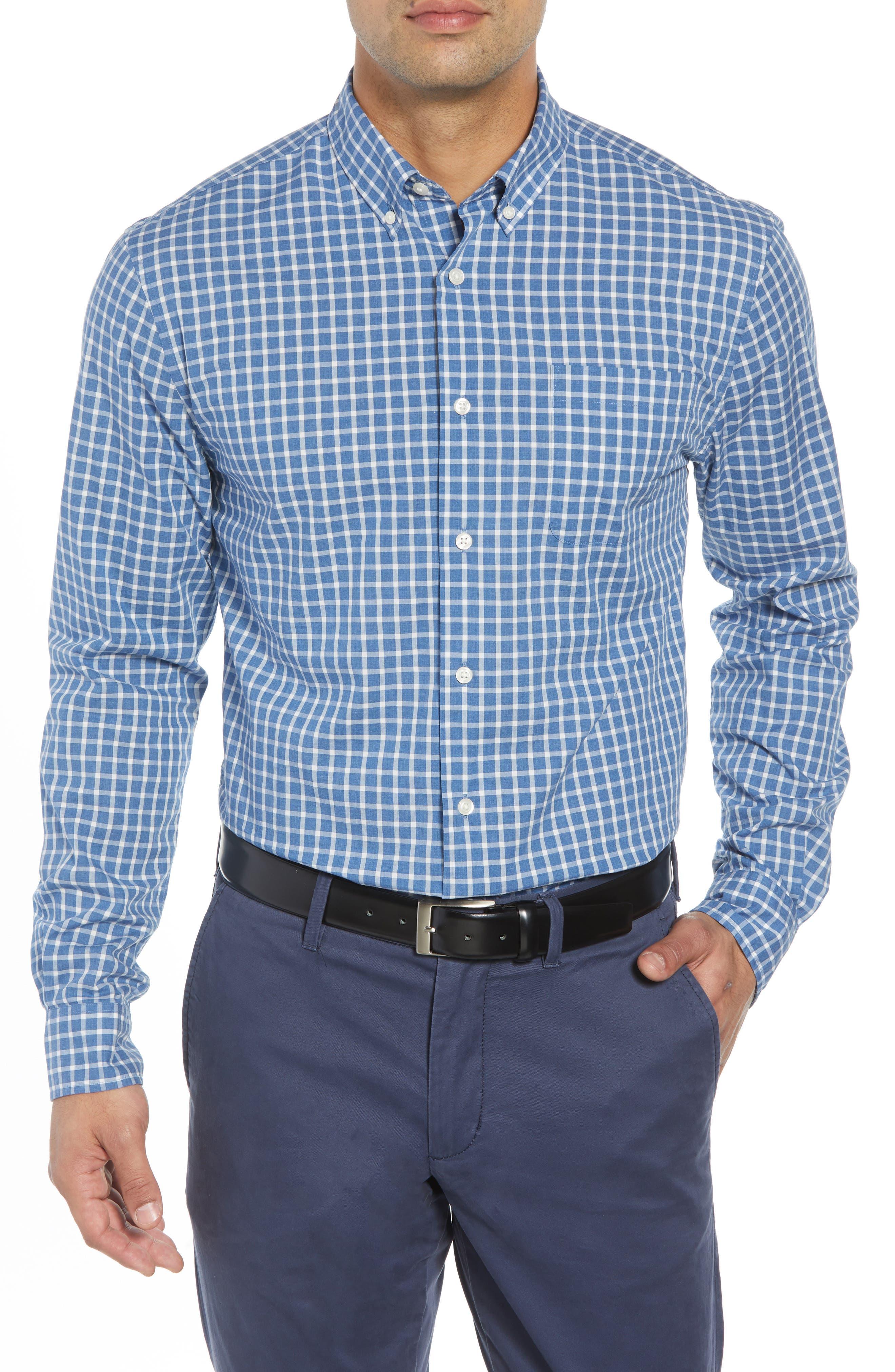 Dunmore Classic Fit Sport Shirt,                         Main,                         color, MARINER