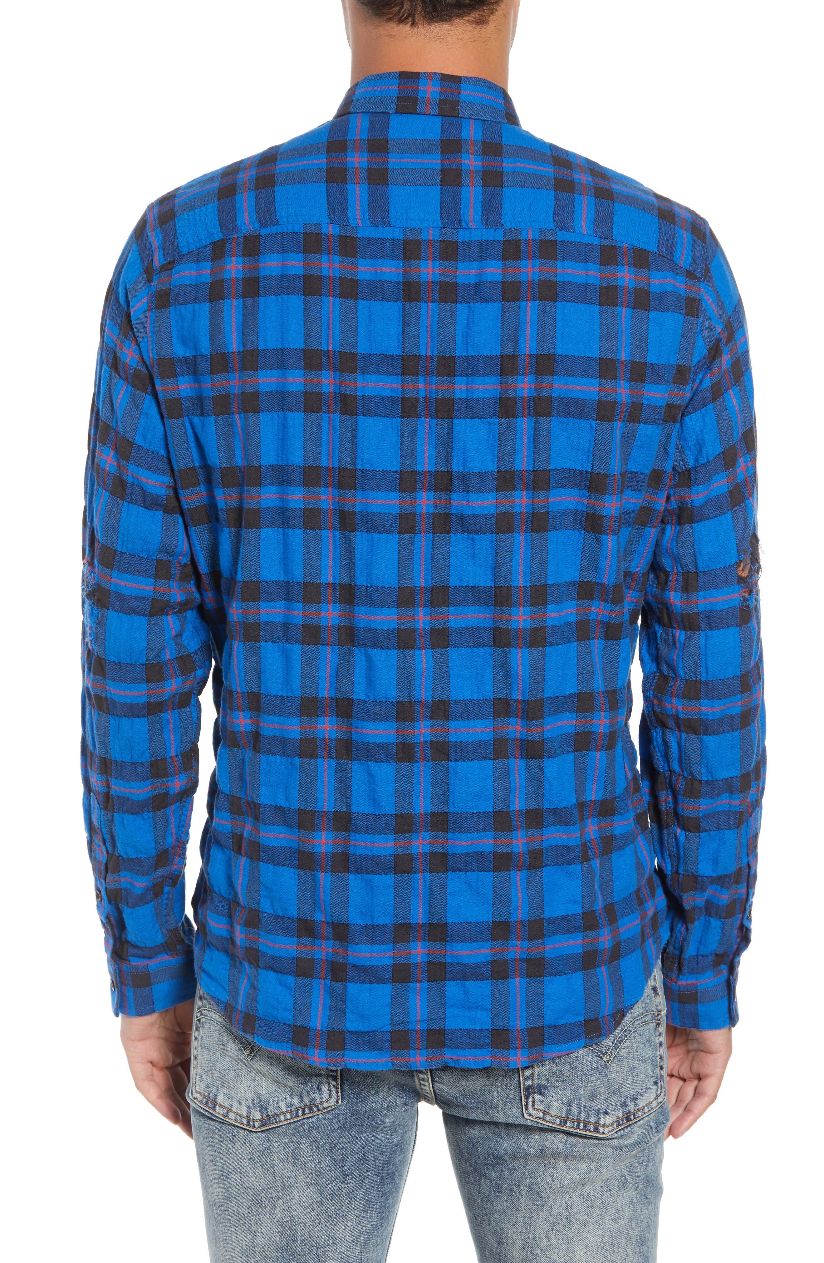 Regular Fit Plaid Sport Shirt,                             Alternate thumbnail 3, color,                             430