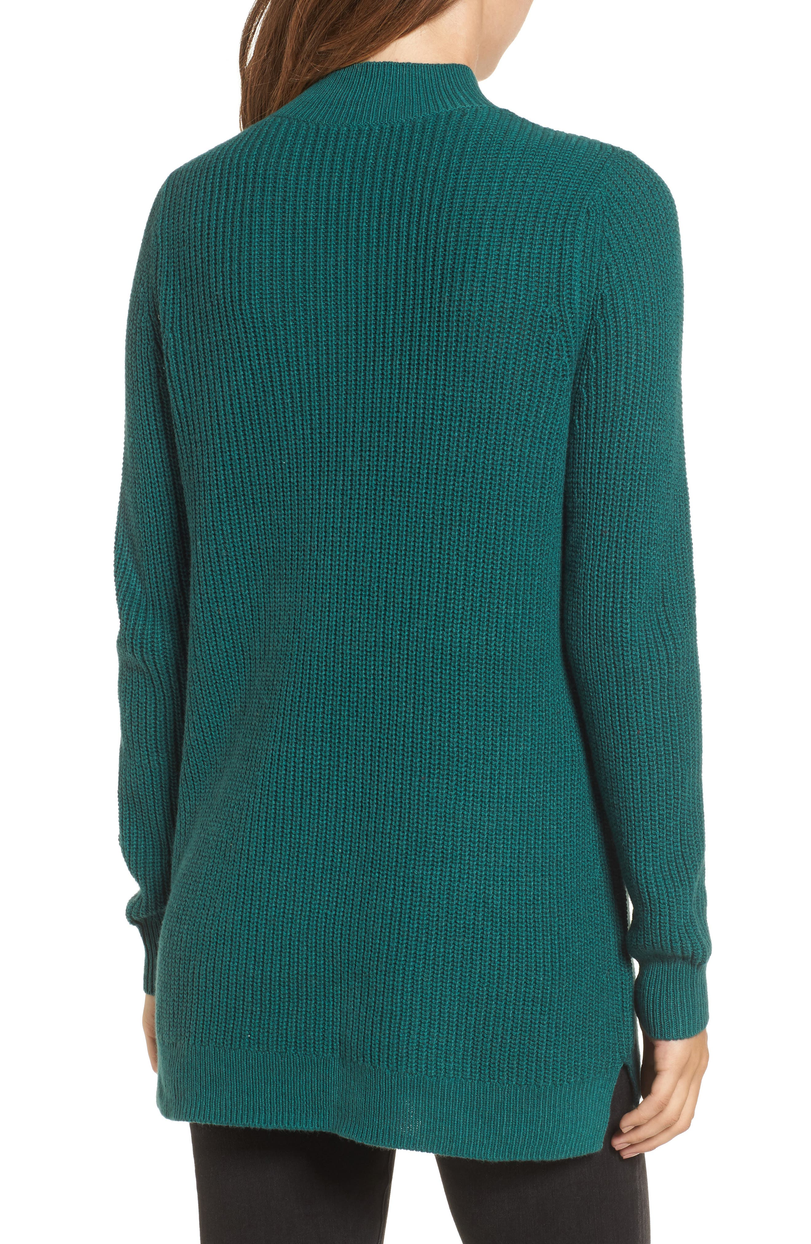 Mock Neck Tunic Sweater,                             Alternate thumbnail 11, color,