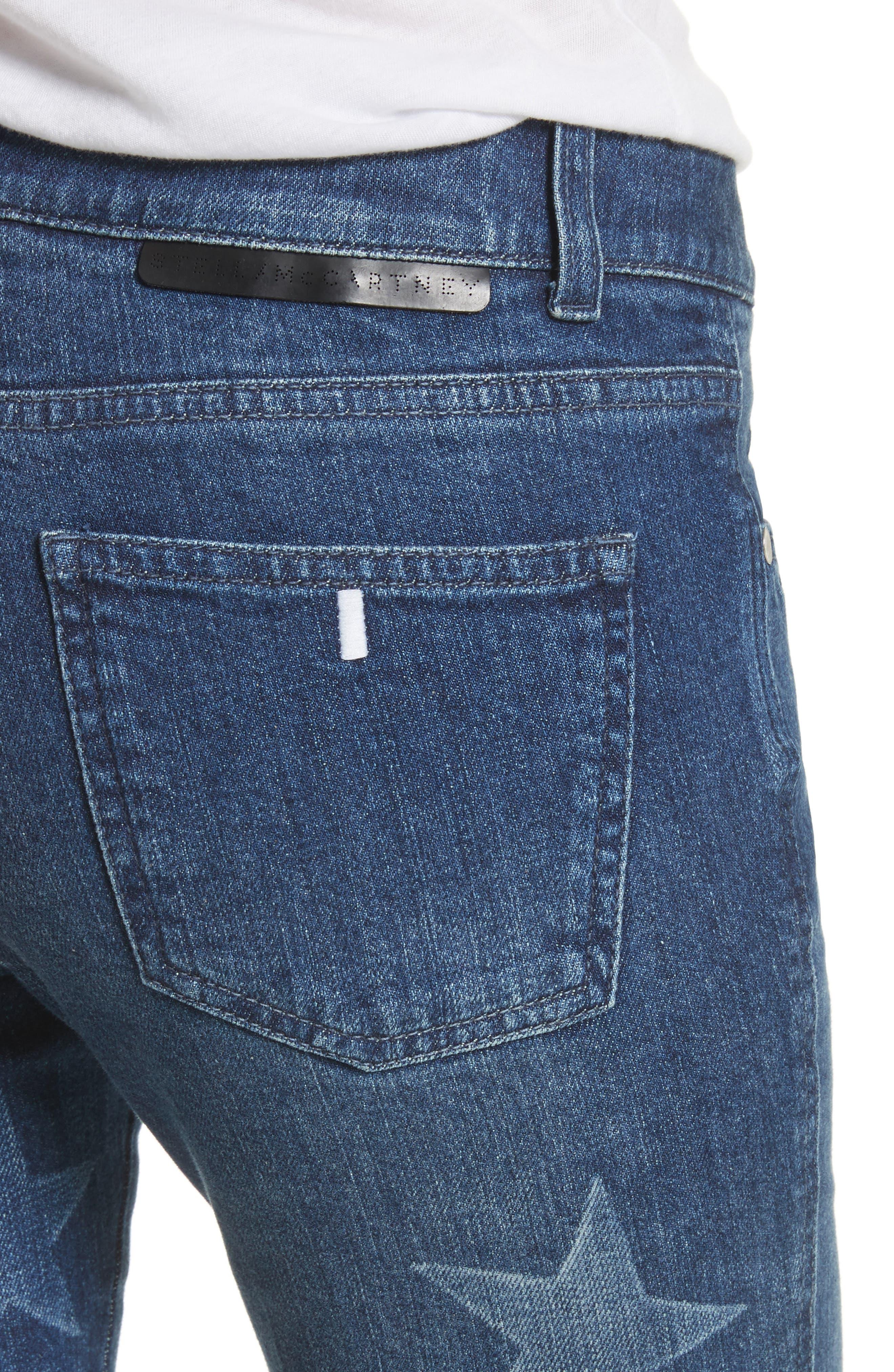 Skinny Ankle Grazer Star Jeans,                             Alternate thumbnail 4, color,                             430