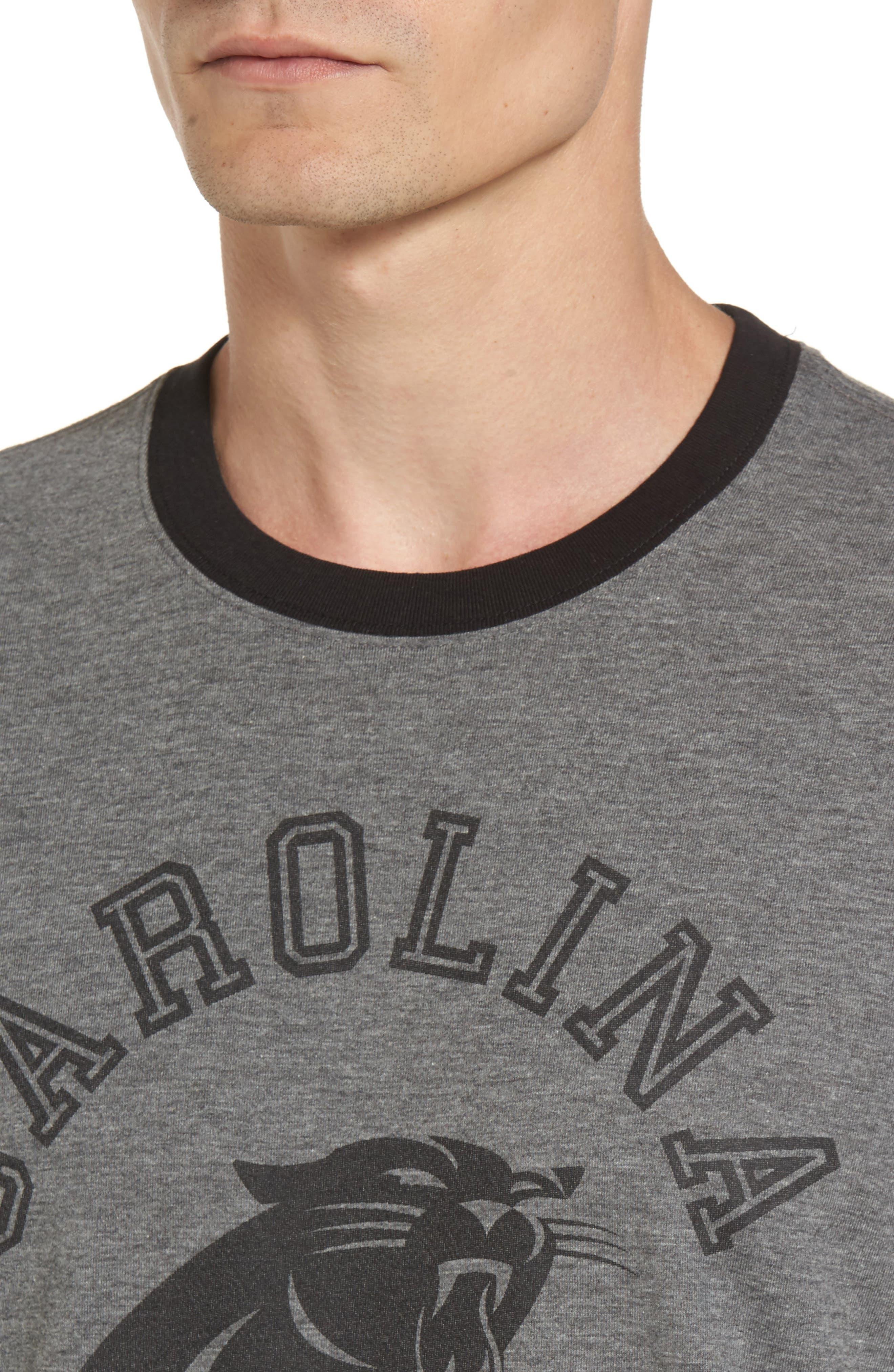 Carolina Panthers Ringer T-Shirt,                             Alternate thumbnail 4, color,                             021