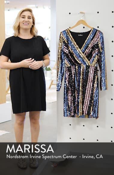 Sam Edleman Rainbow Stripe Sequin Wrap Front Dress, sales video thumbnail