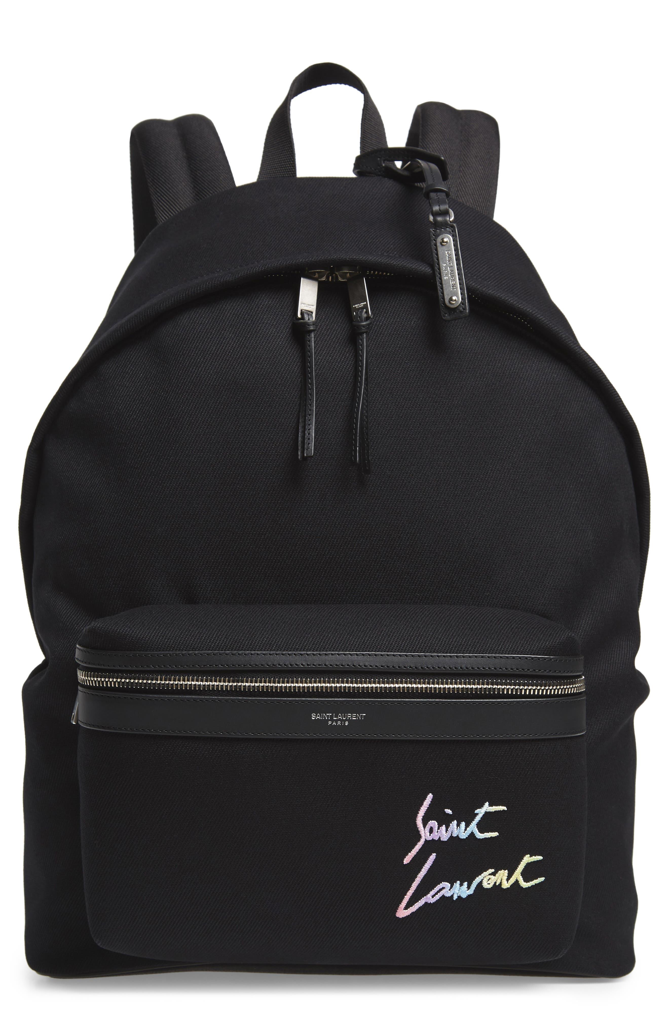 City Canvas Backpack,                             Main thumbnail 1, color,                             BLACK