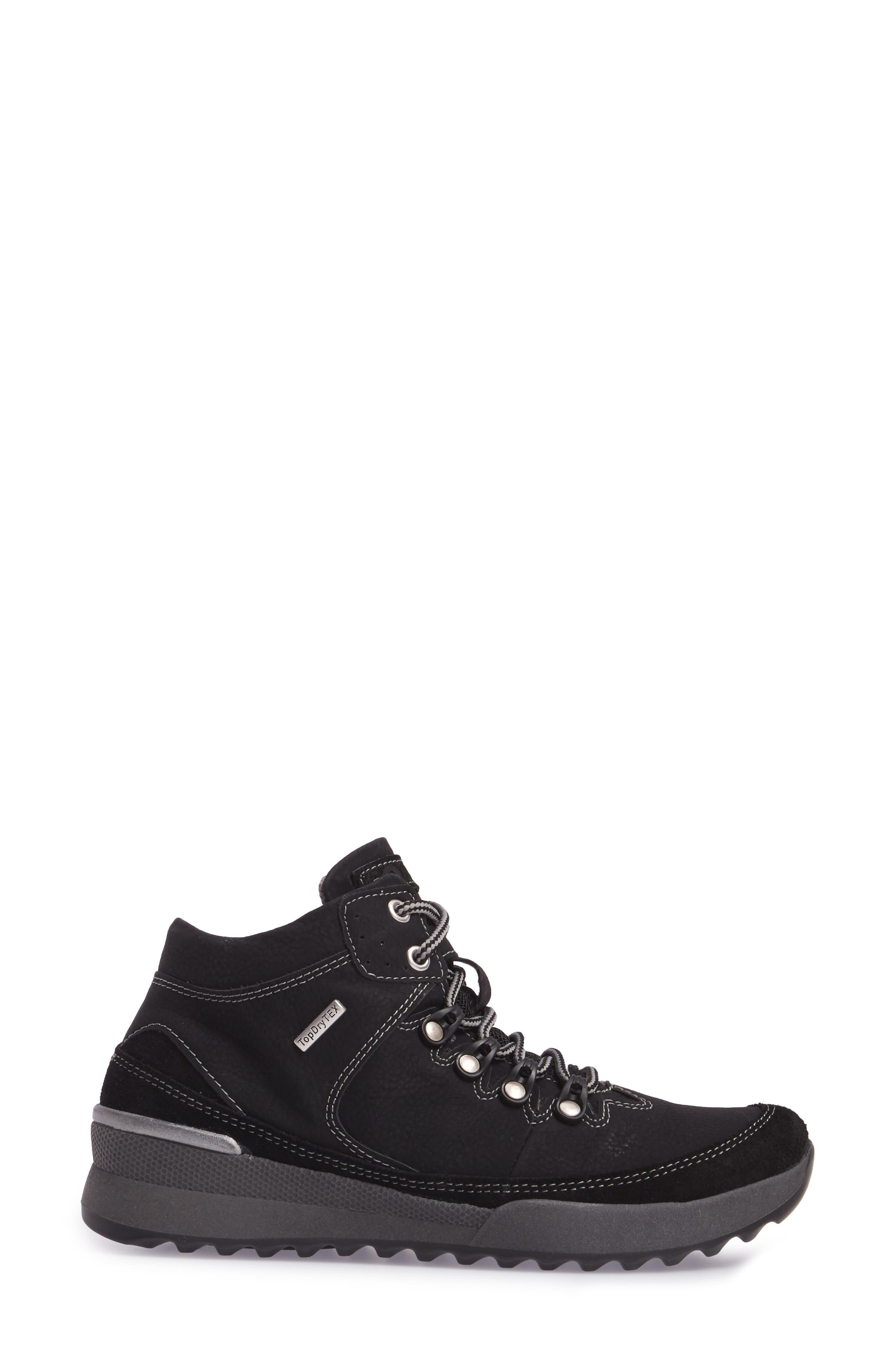 Victoria 05 Waterproof Sneaker,                             Alternate thumbnail 3, color,                             BLACK/ KOMBI LEATHER