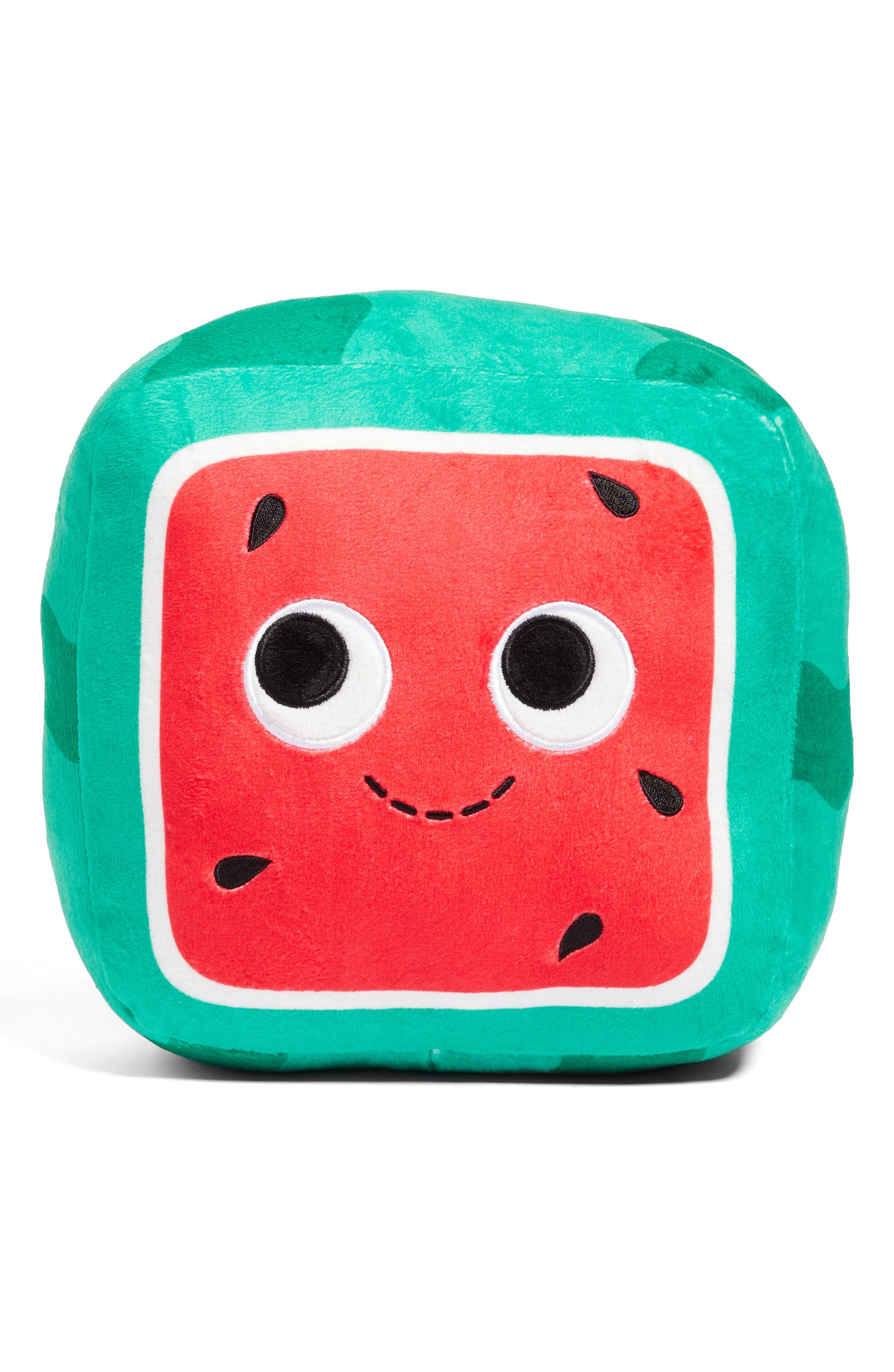 Yummy World Medium Kenji Square Watermelon Plush Toy,                             Main thumbnail 1, color,                             960