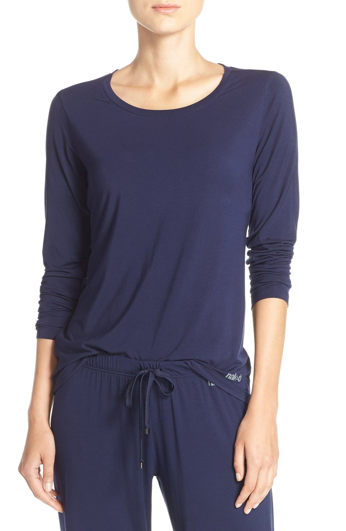 Long Sleeve Stretch Modal Top,                         Main,                         color, 411