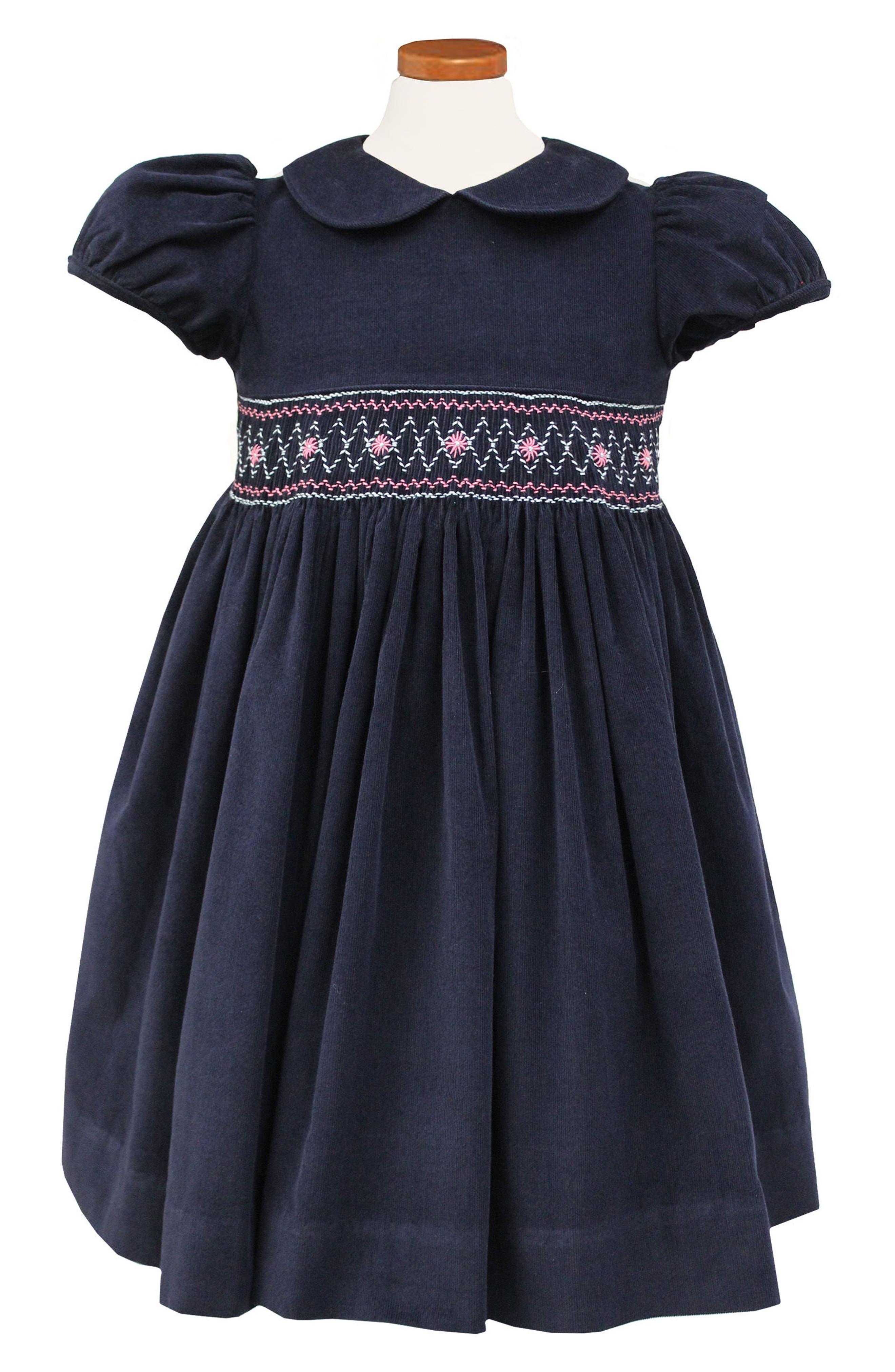 Embroidered Smocked Waist Dress,                             Alternate thumbnail 2, color,                             400