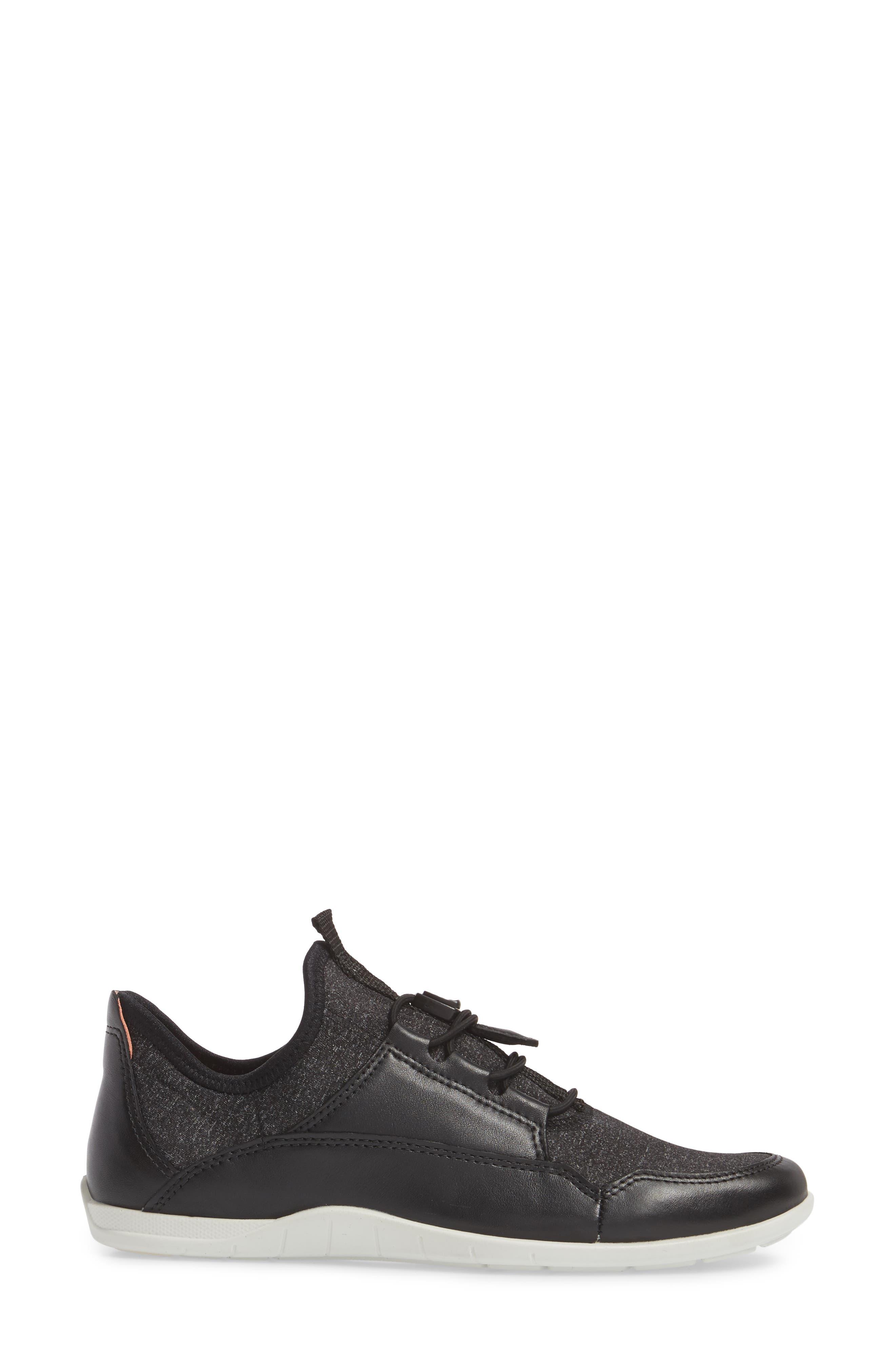 Bluma Speedlace Sneaker,                             Alternate thumbnail 3, color,                             001