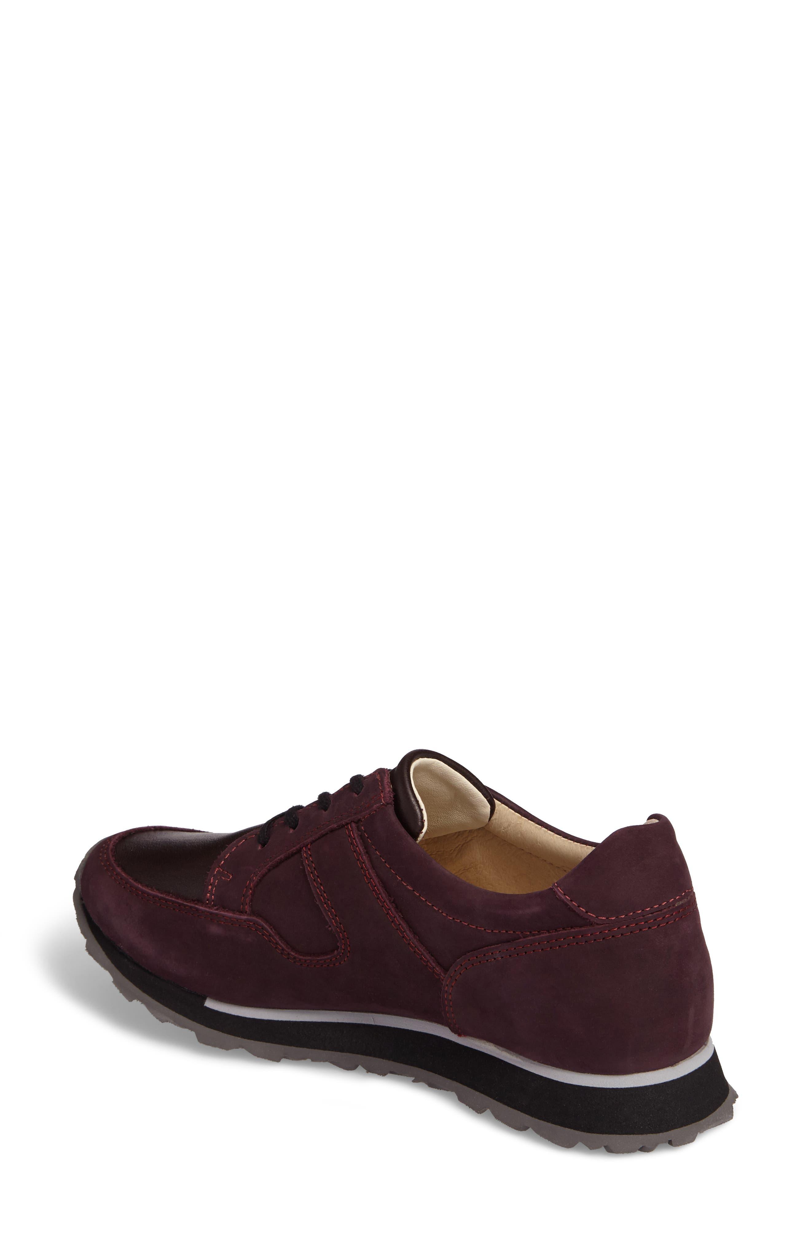 E-Walk Sneaker,                             Alternate thumbnail 2, color,                             BORDO LEATHER
