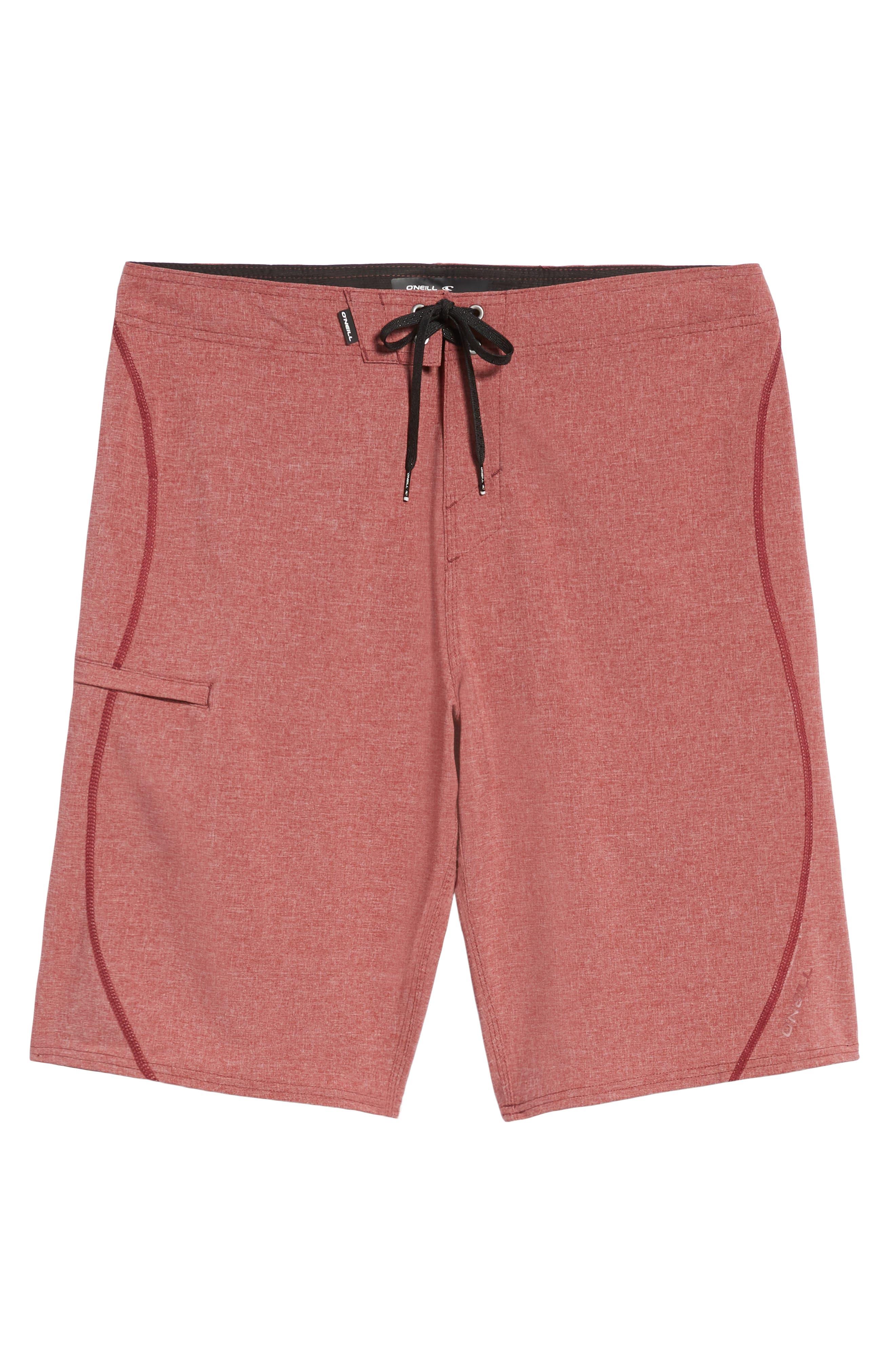 Hyperfreak S-Seam Board Shorts,                             Alternate thumbnail 6, color,                             CRIMSON