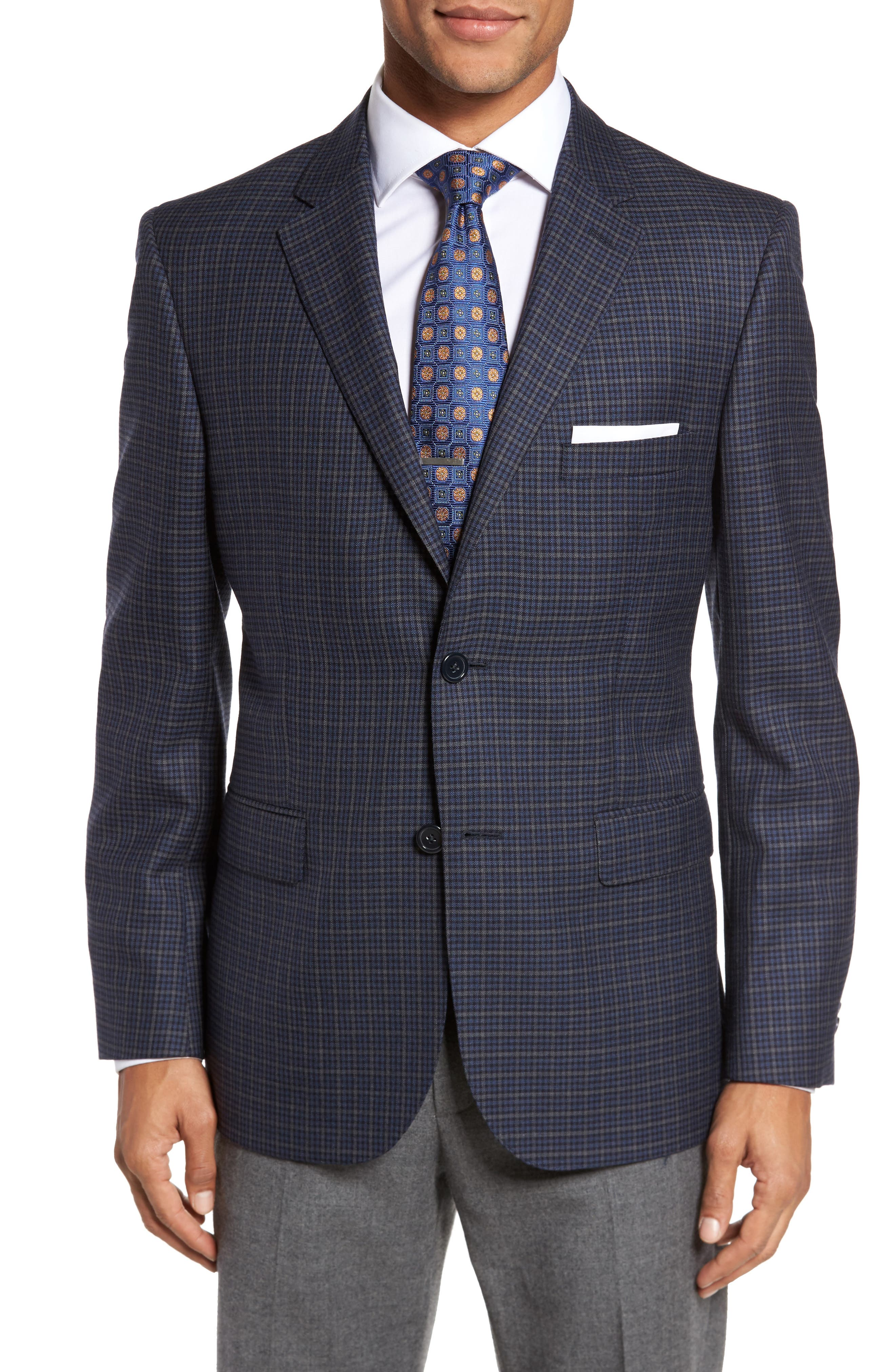 Classic Fit Check Wool Sport Coat,                         Main,                         color, 422