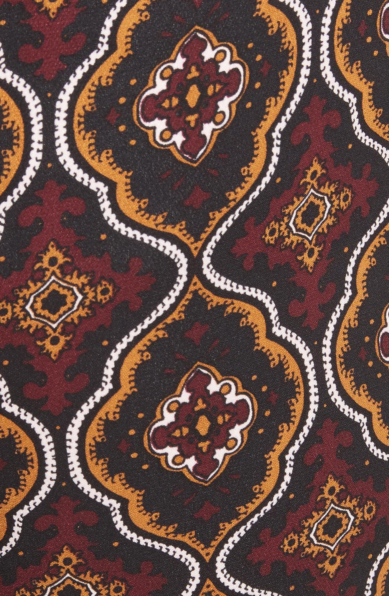 Felix Print Silk Pants,                             Alternate thumbnail 5, color,                             931