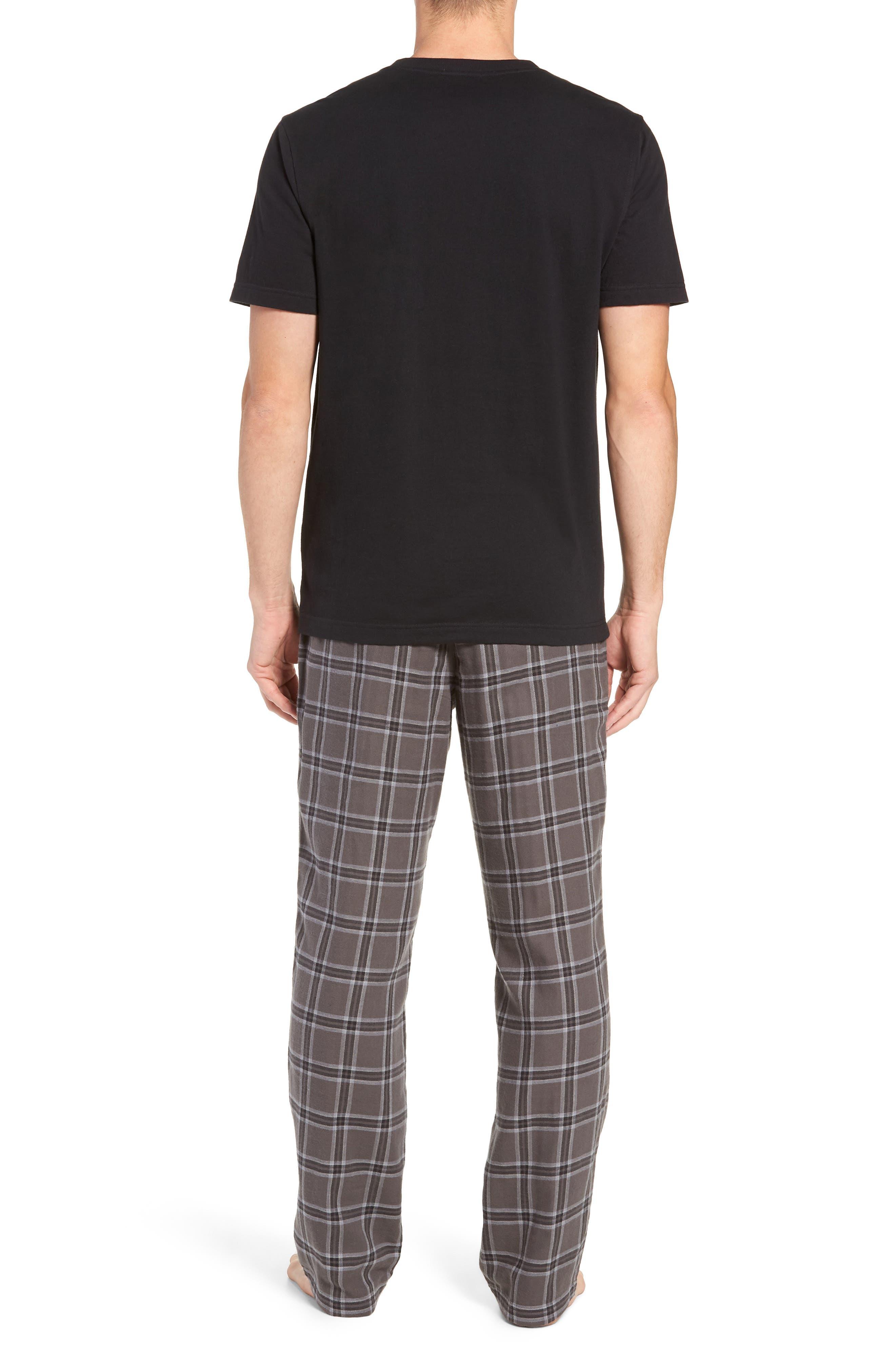 Grant Pajama Set,                             Alternate thumbnail 2, color,                             CHARCOAL/ BLACK