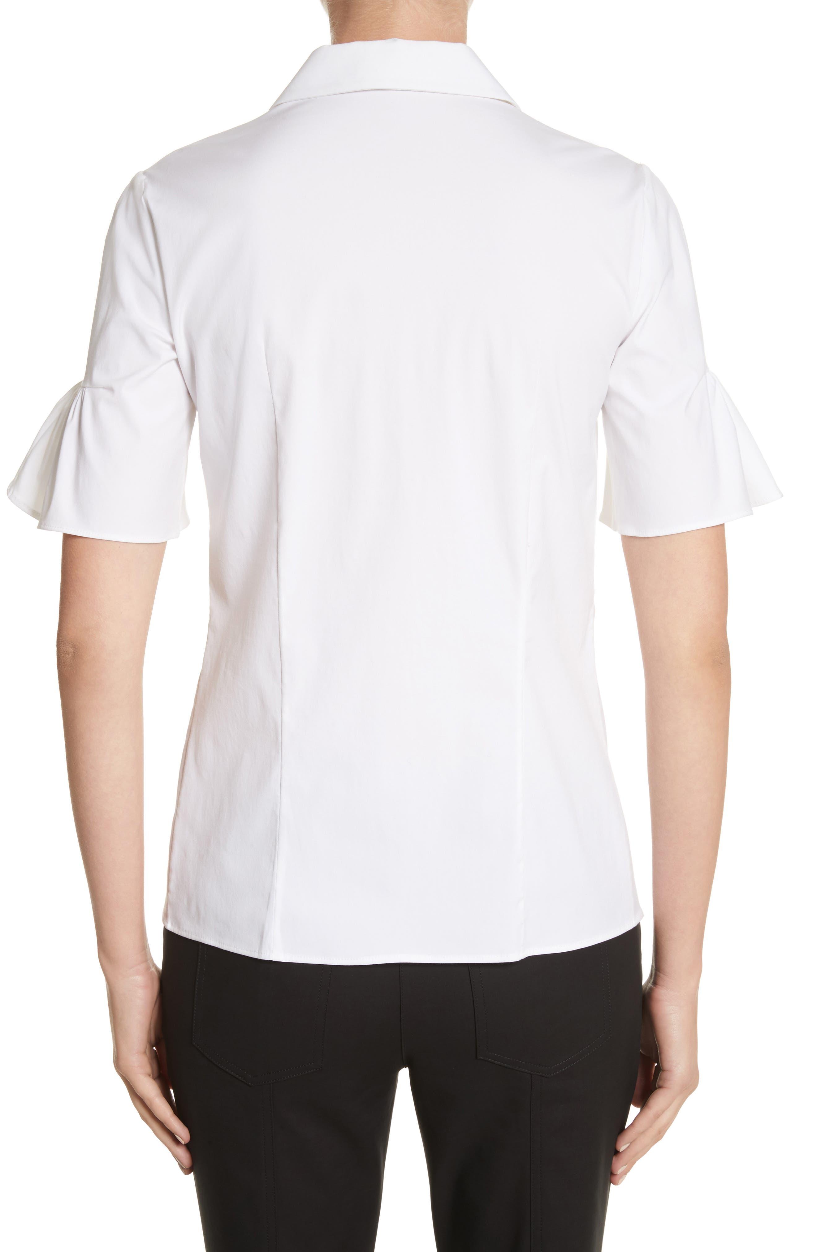 Bell Sleeve Shirt,                             Alternate thumbnail 2, color,                             100