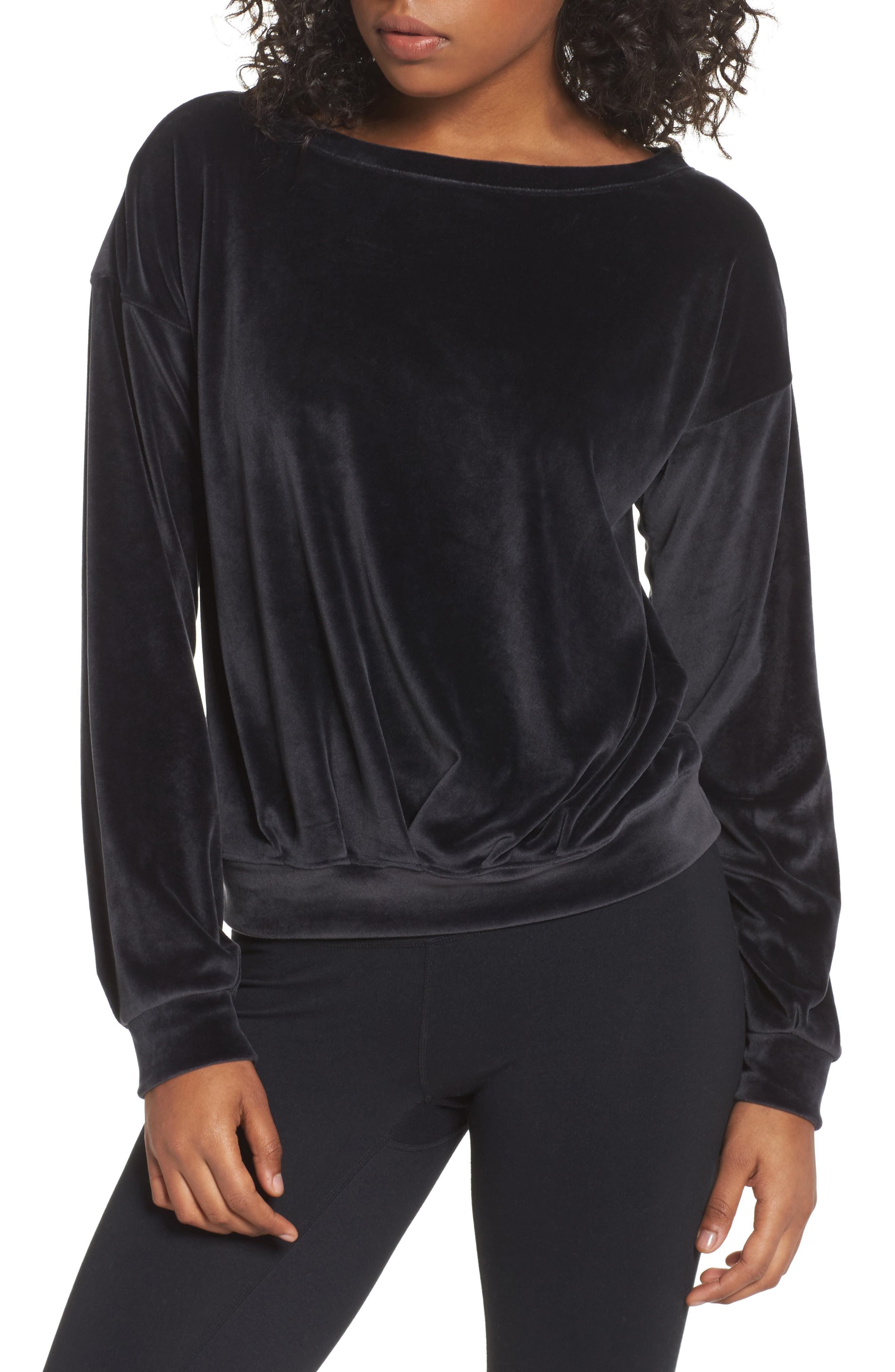 Dani Velour Pullover,                         Main,                         color, 001