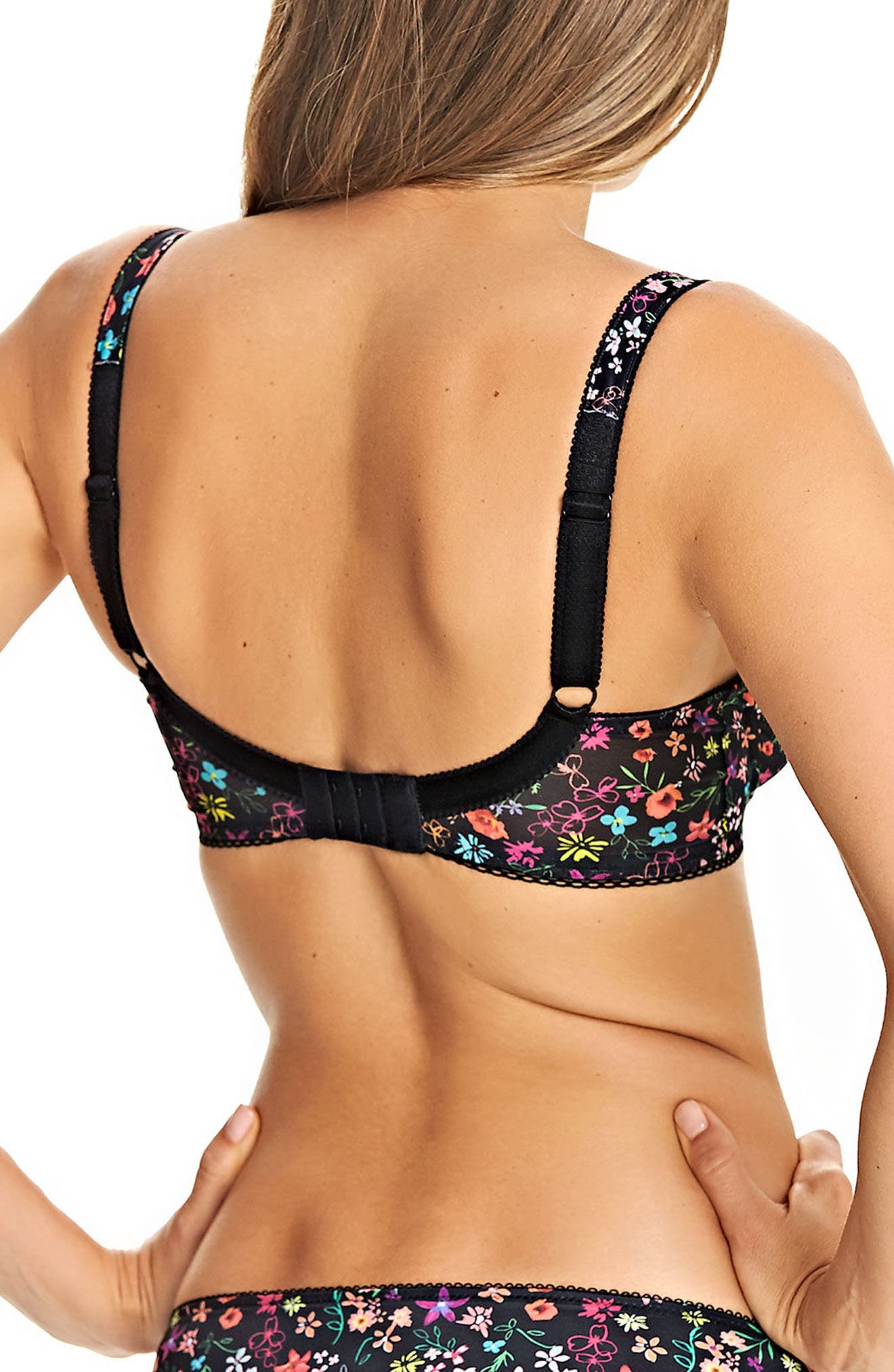 Harmonie Girl Underwire Plunge Bra,                             Alternate thumbnail 2, color,                             001