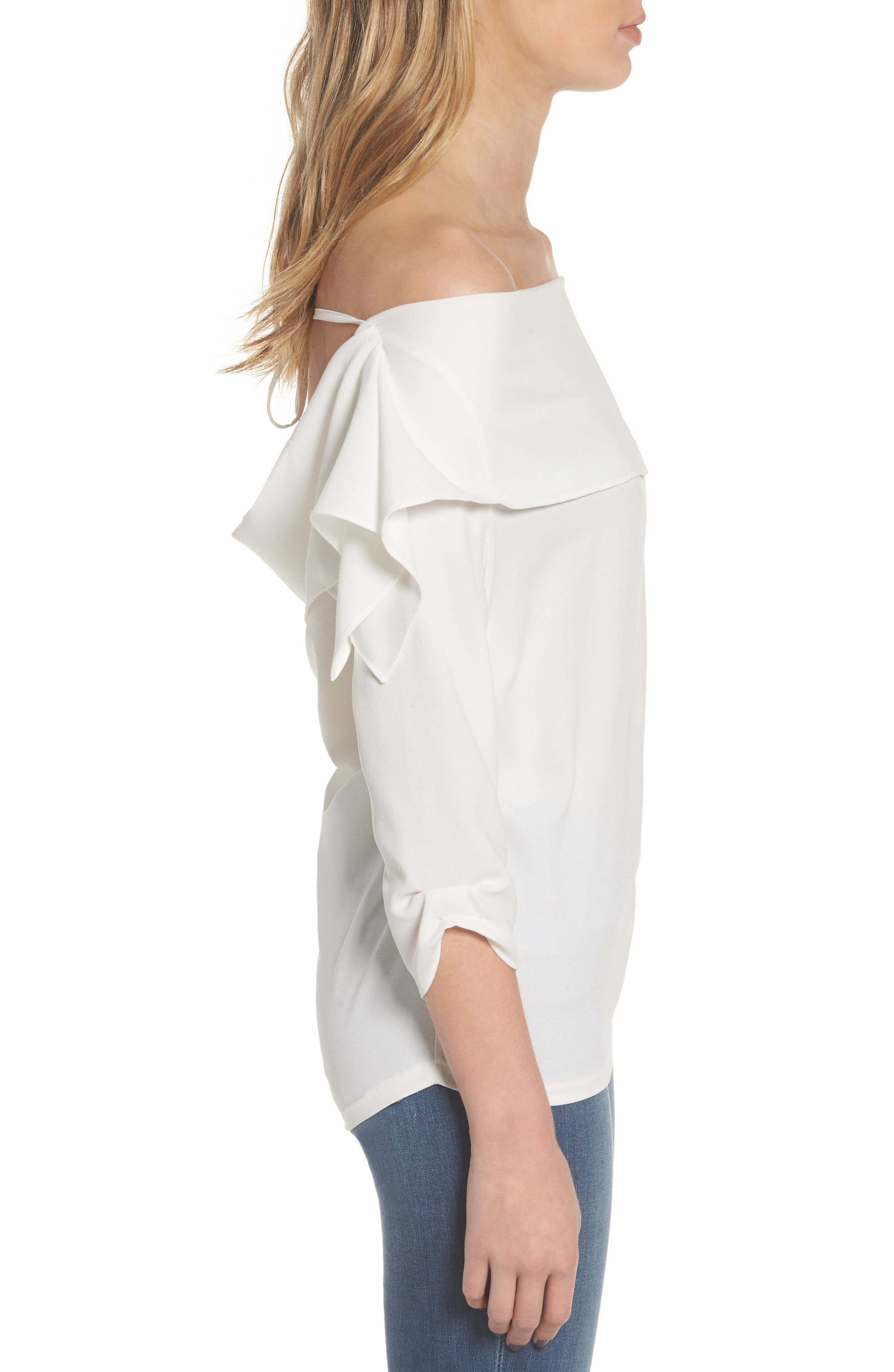 The Picture Perfect Off the Shoulder Blouse,                             Alternate thumbnail 6, color,
