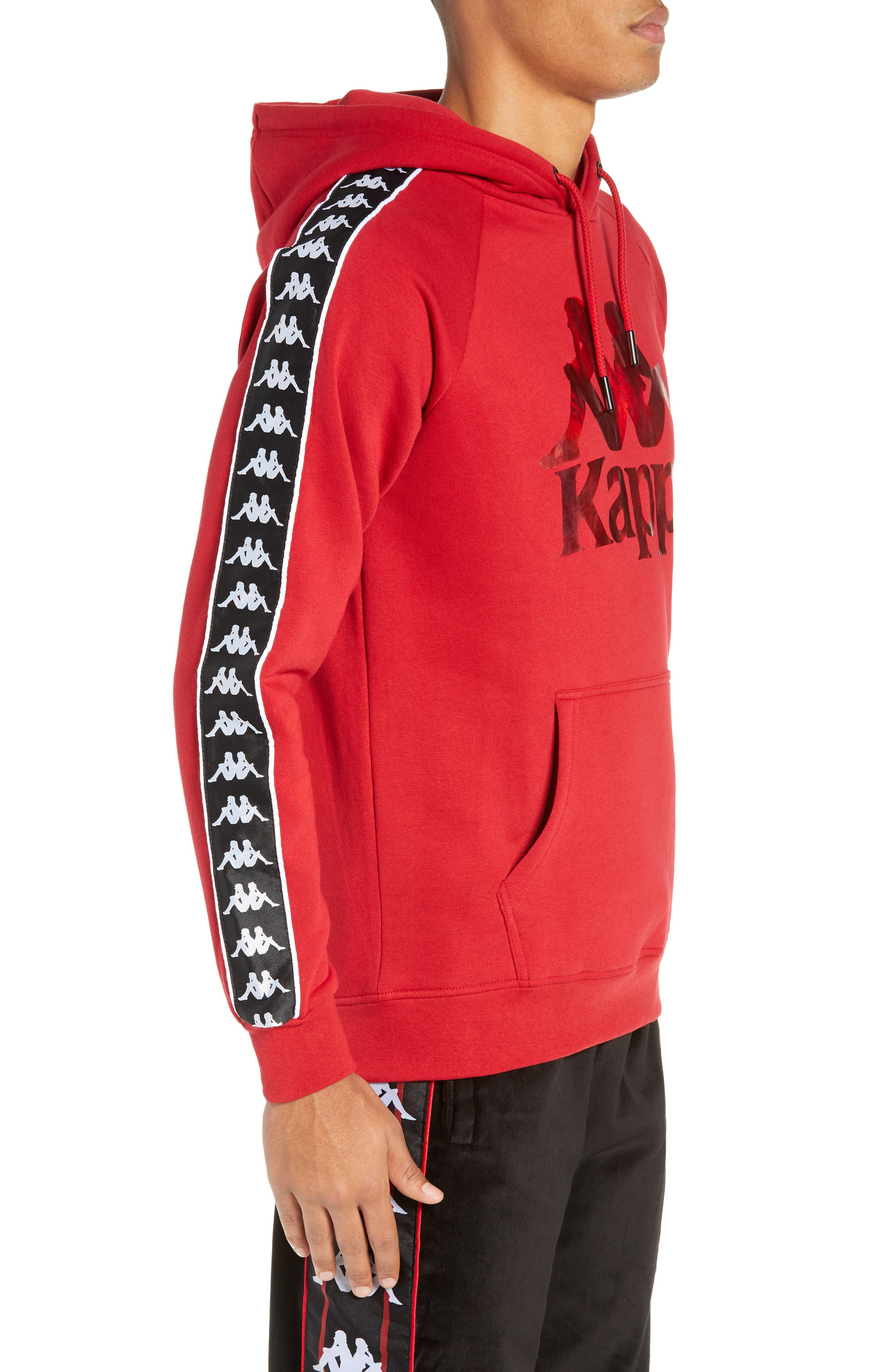 Banda Graphic Hoodie,                             Alternate thumbnail 3, color,                             RED/ BLACK/ WHITE