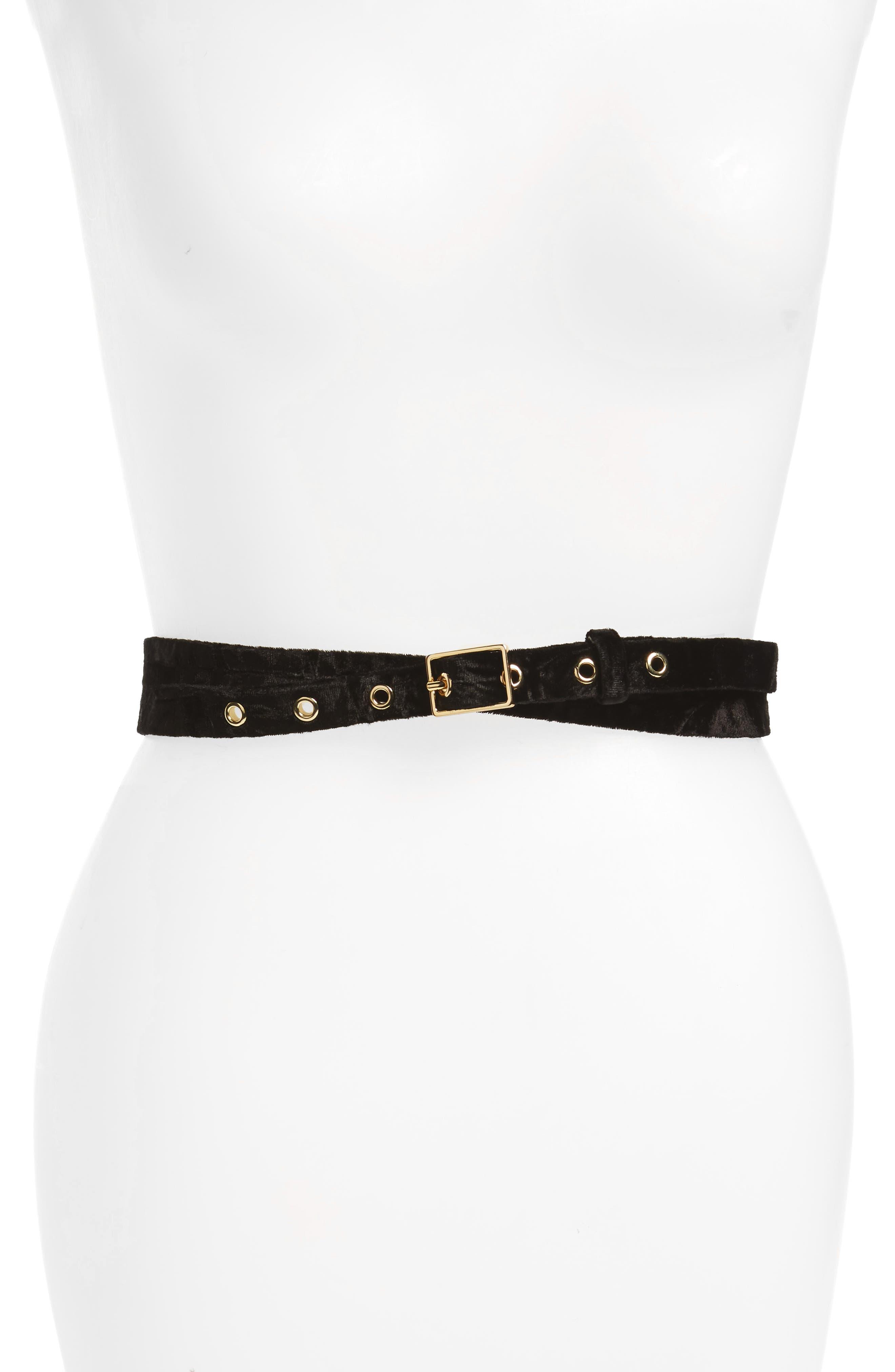 Velvet Double Wrap Belt,                             Main thumbnail 1, color,
