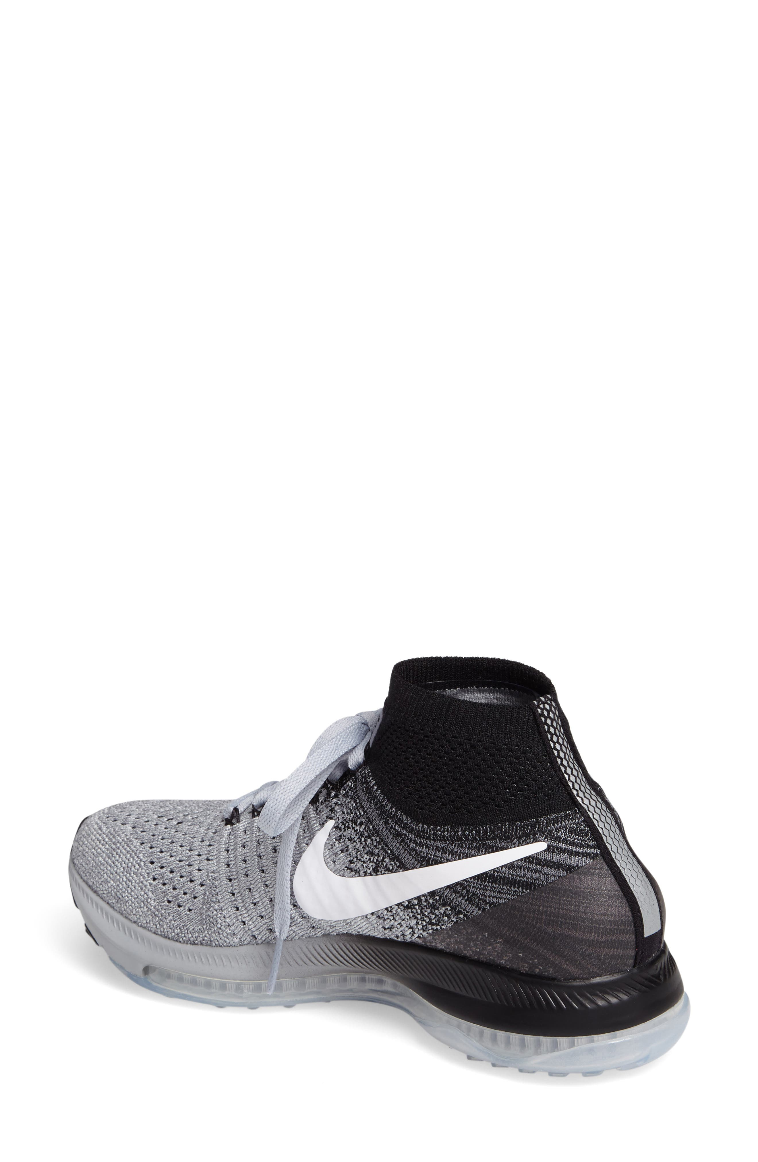 Air Zoom Pegasus All Out Flyknit Running Shoe,                             Alternate thumbnail 2, color,                             021