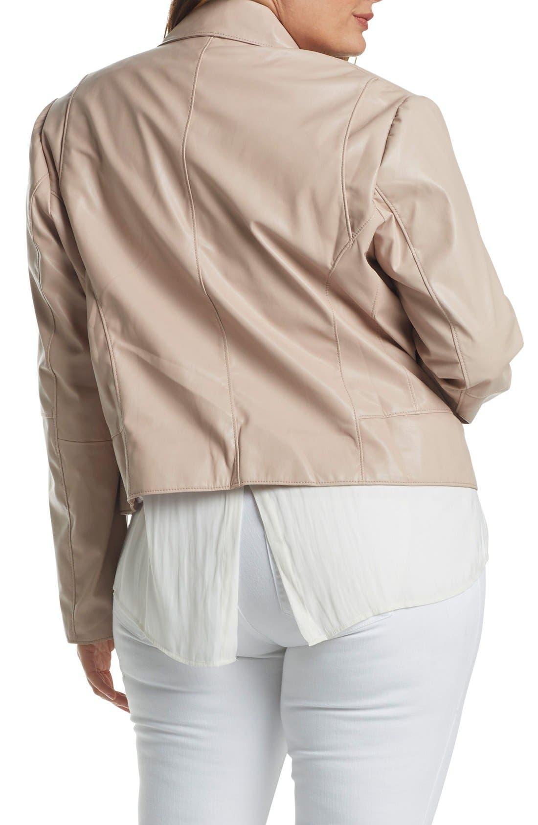 Mollie Faux Leather Jacket,                             Alternate thumbnail 7, color,                             681