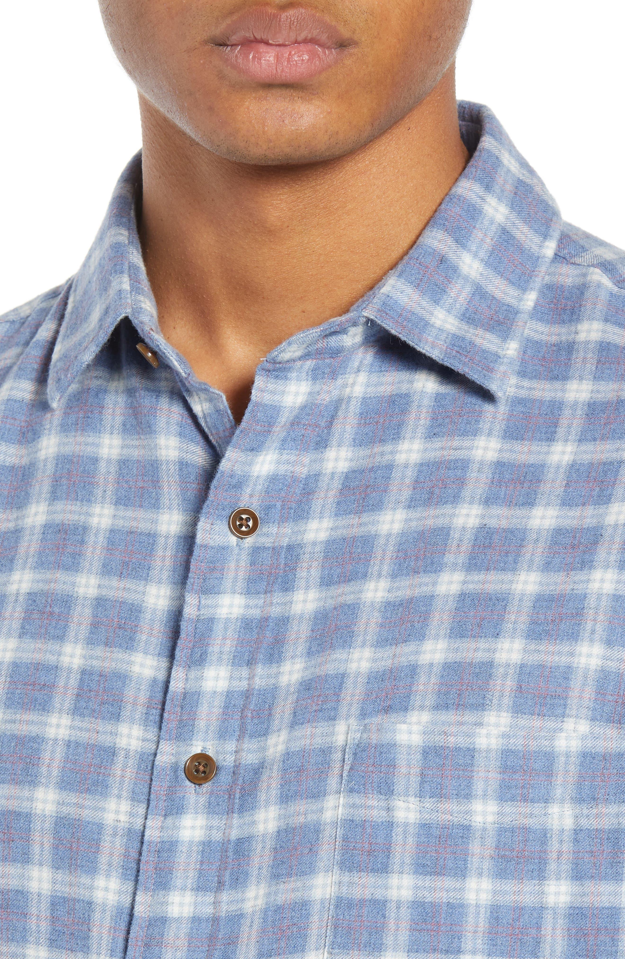 Ventura Oxford Sport Shirt,                             Alternate thumbnail 2, color,                             HEATHER BLUE CHECK