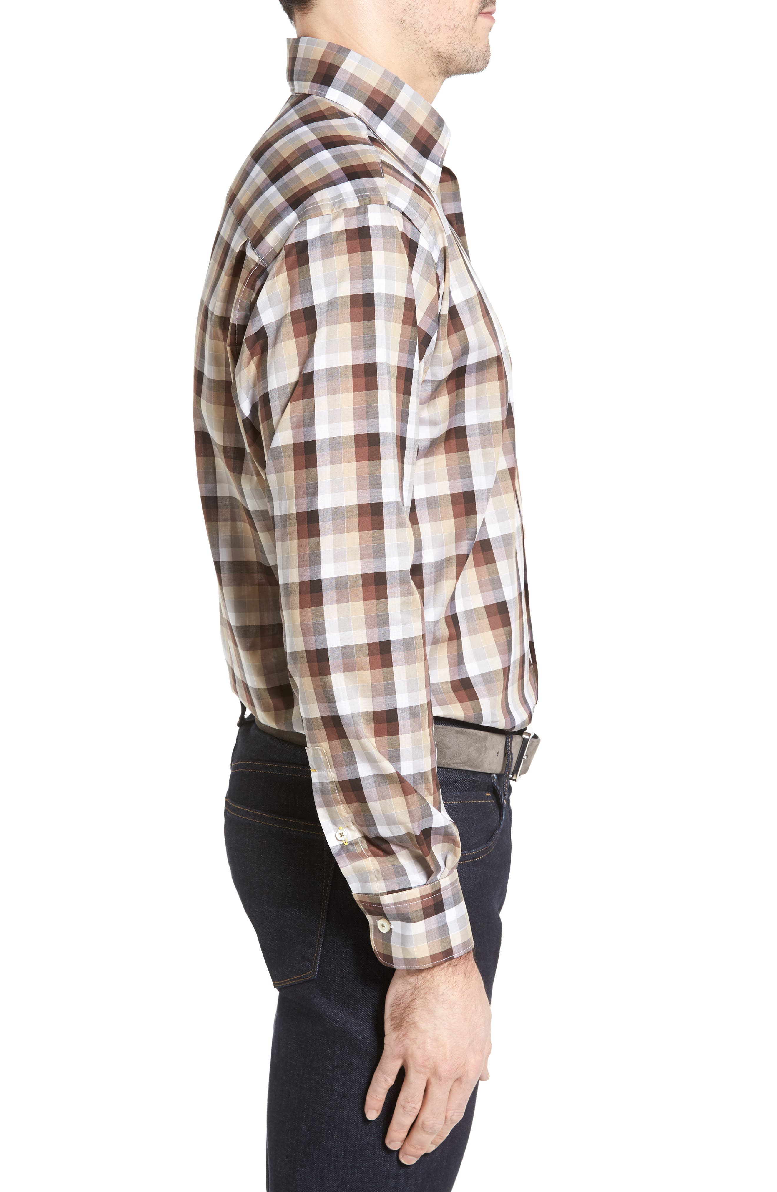 Anderson Classic Fit Check Sport Shirt,                             Alternate thumbnail 3, color,                             200