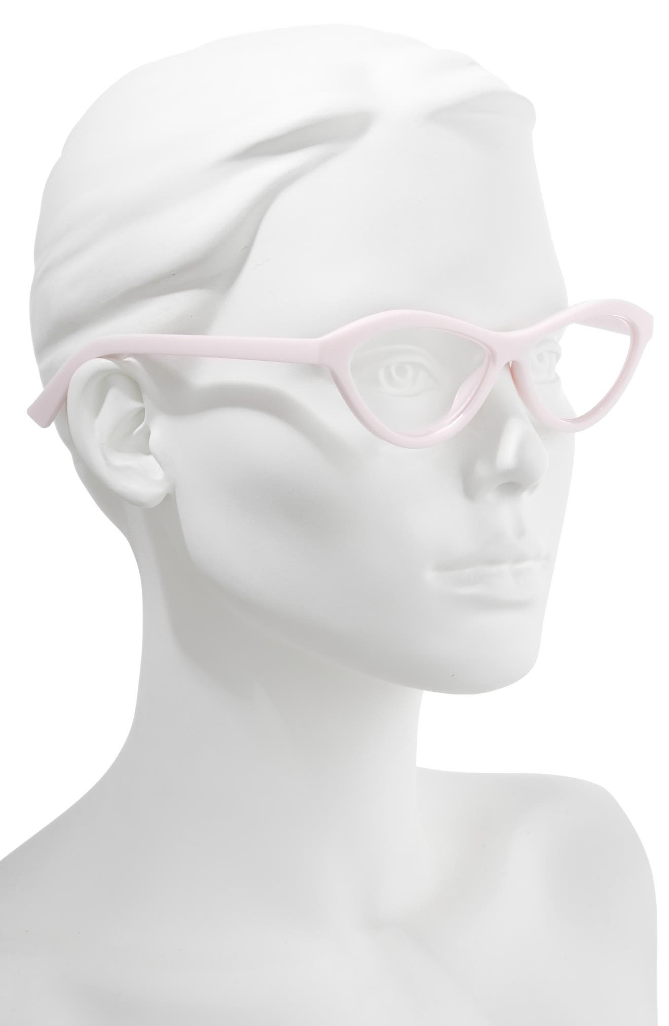 Fifty Fails a Day 54mm Reading Glasses,                             Alternate thumbnail 2, color,                             POWDER PINK