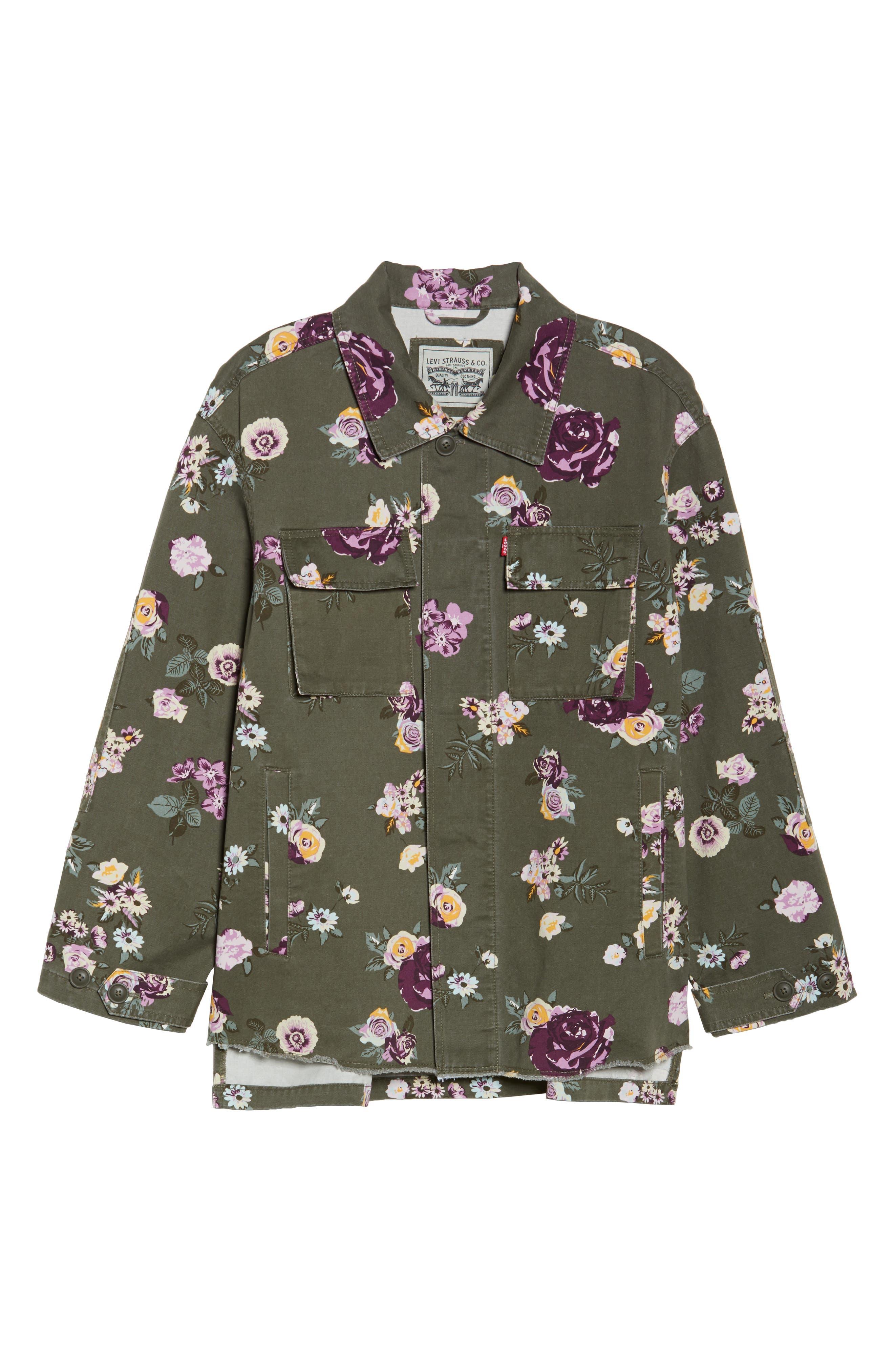 High/Low Shirt Jacket,                             Alternate thumbnail 6, color,                             103