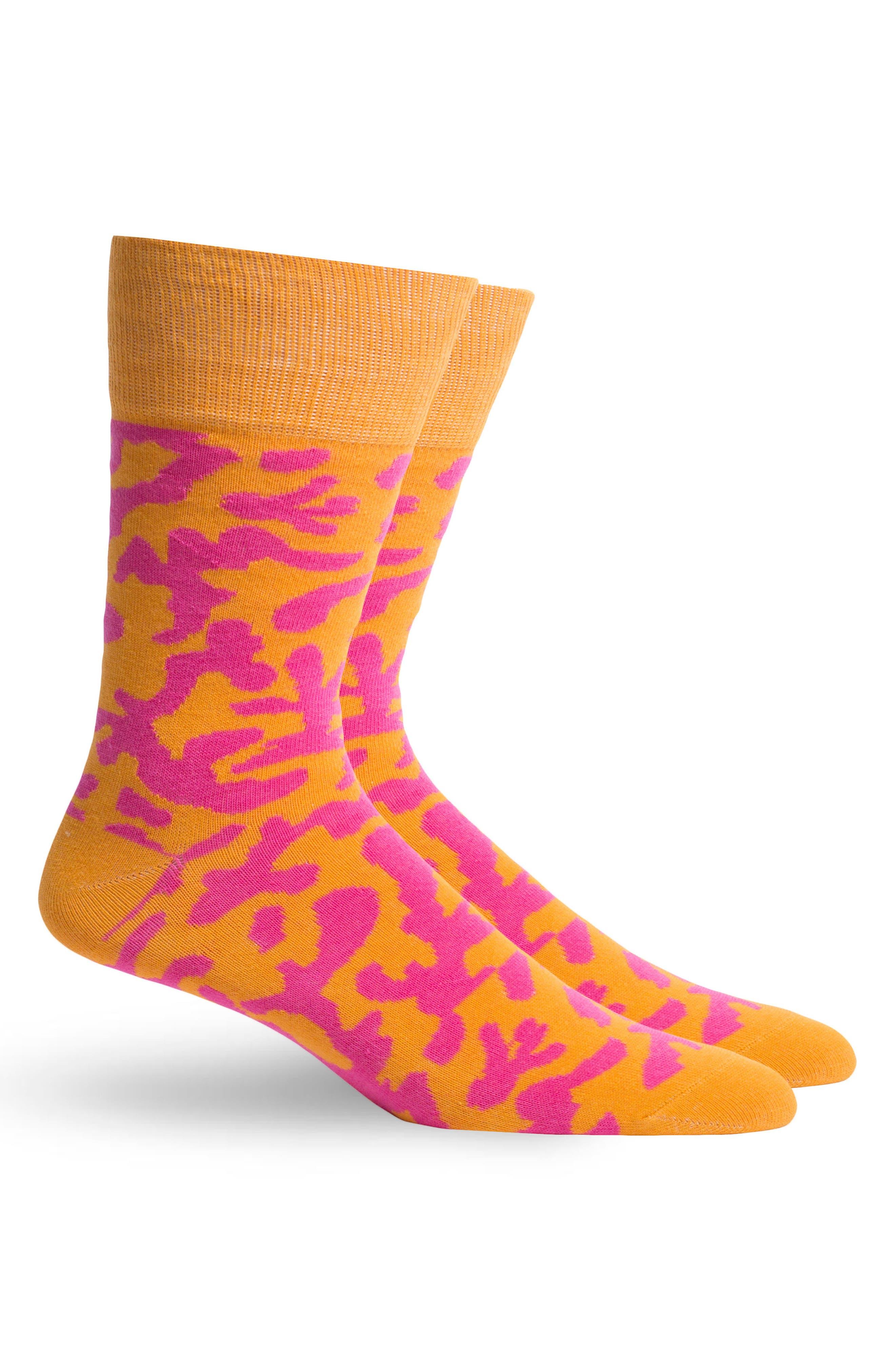 Coral Will Bryant Crew Socks,                             Alternate thumbnail 2, color,                             820