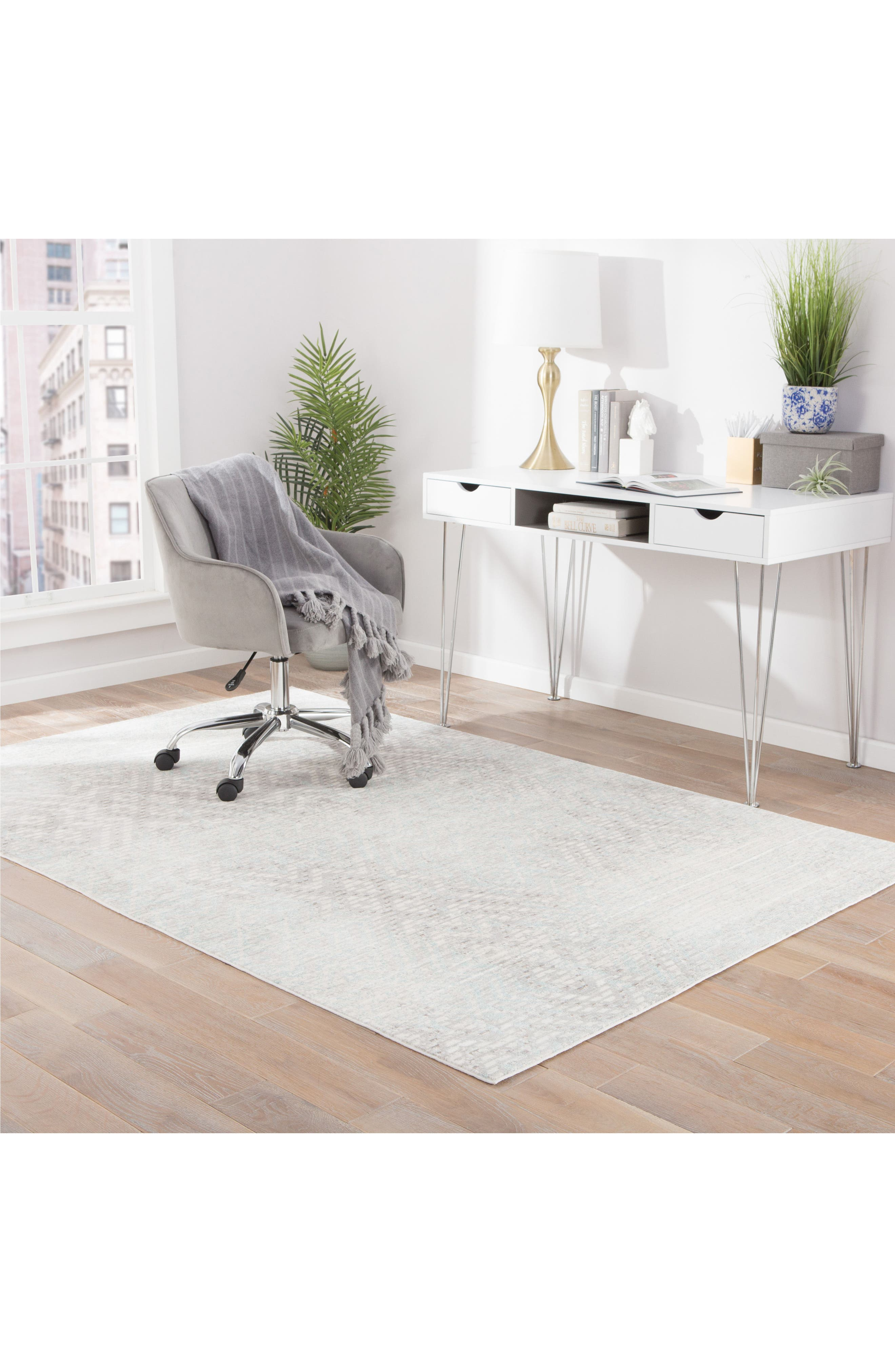 Diamond Interlock Rug,                             Alternate thumbnail 6, color,                             021