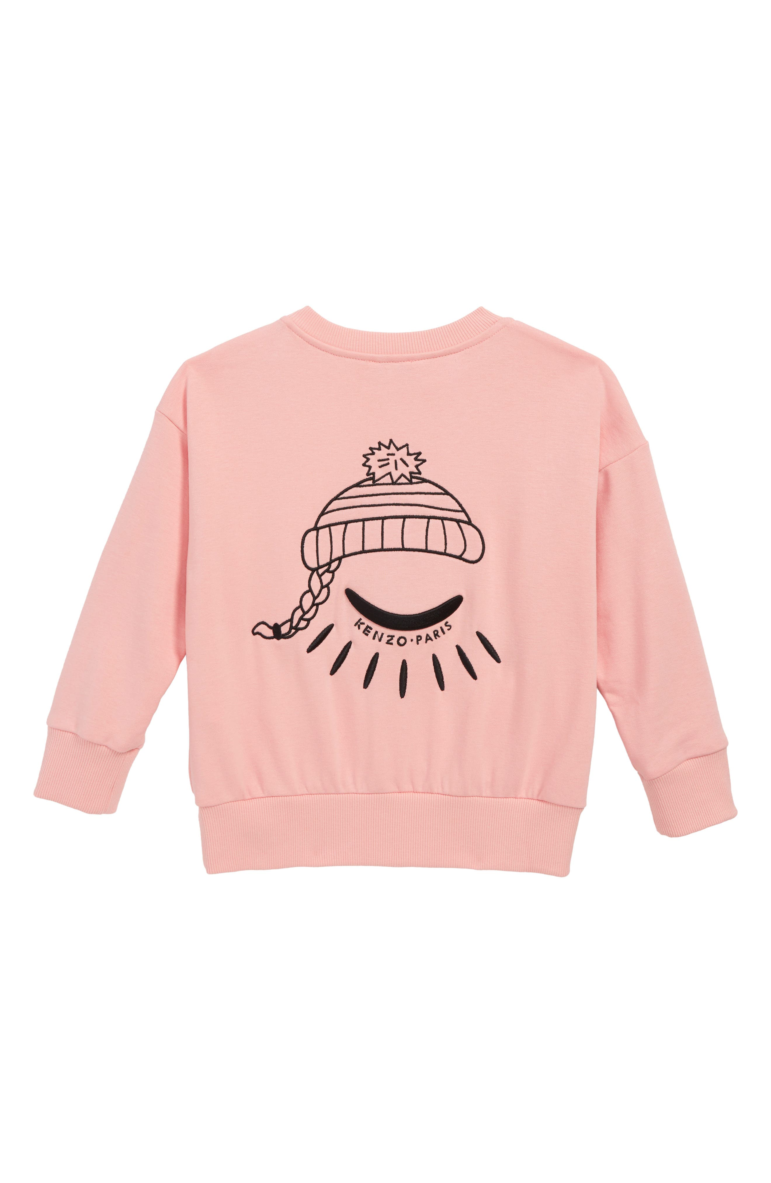 Eye Sweater,                             Alternate thumbnail 2, color,                             MIDDLE PINK