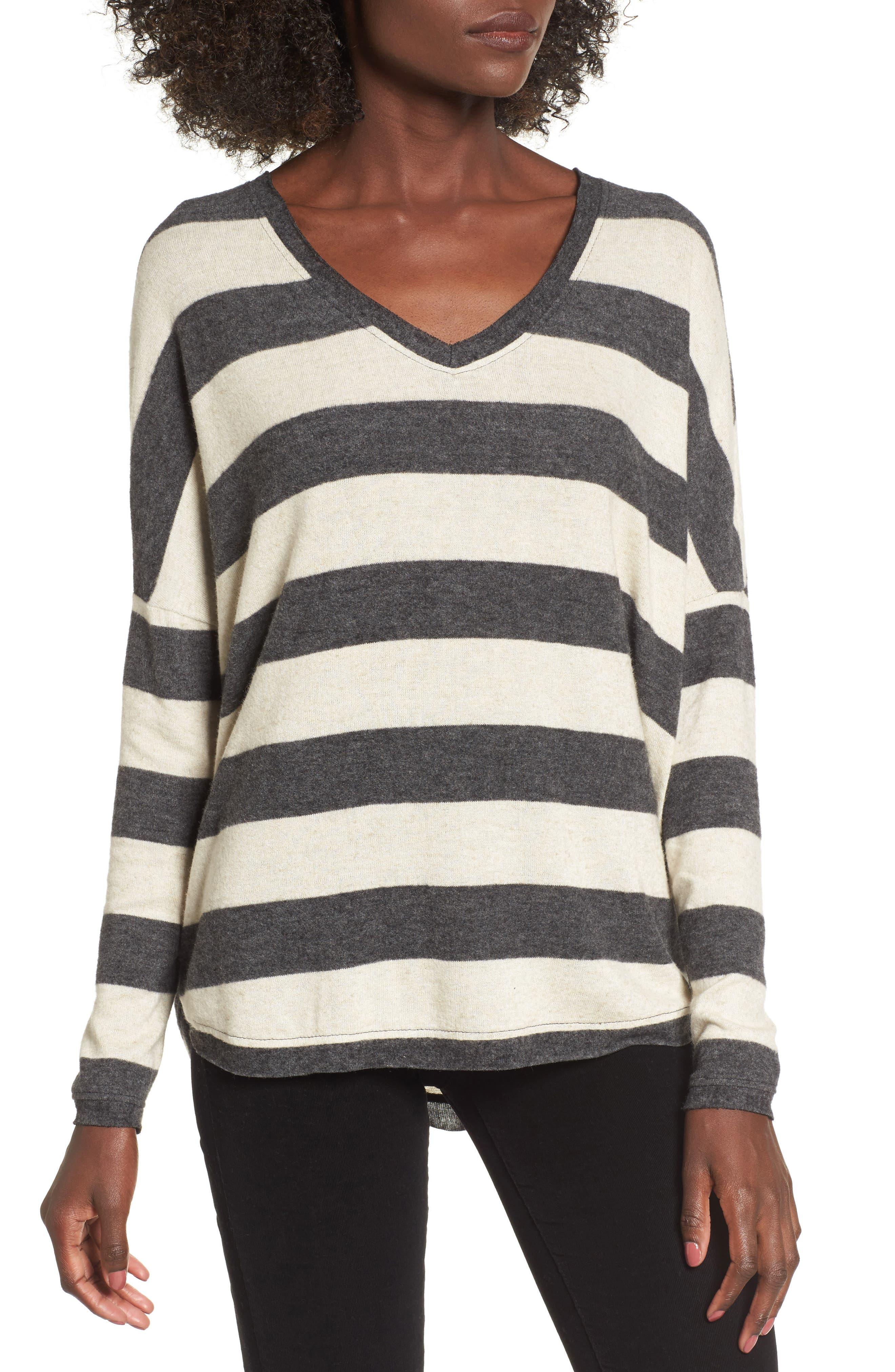 Stripe Cozy Tee,                         Main,                         color, 020