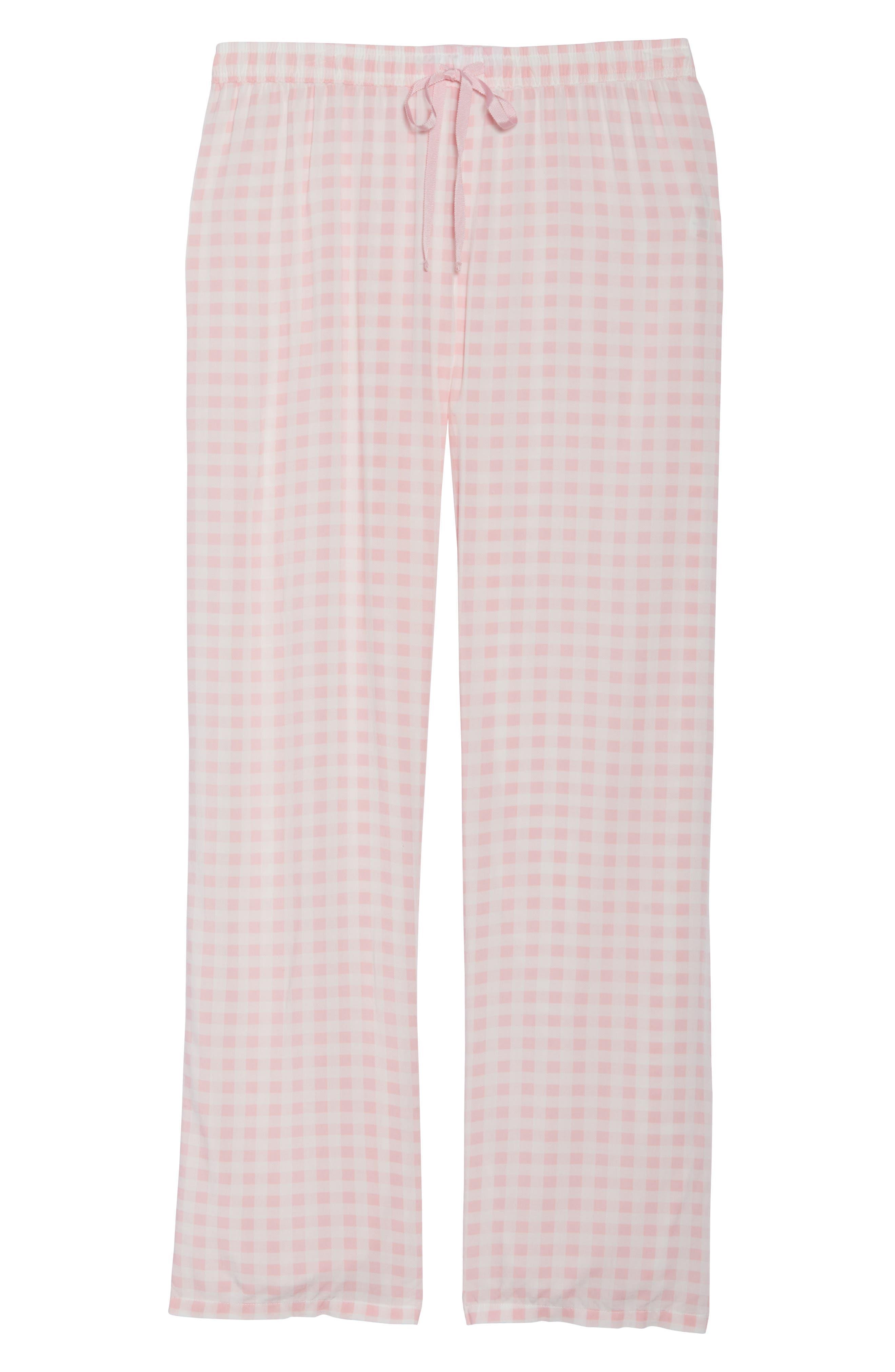 Gingham Pajama Pants,                             Alternate thumbnail 6, color,