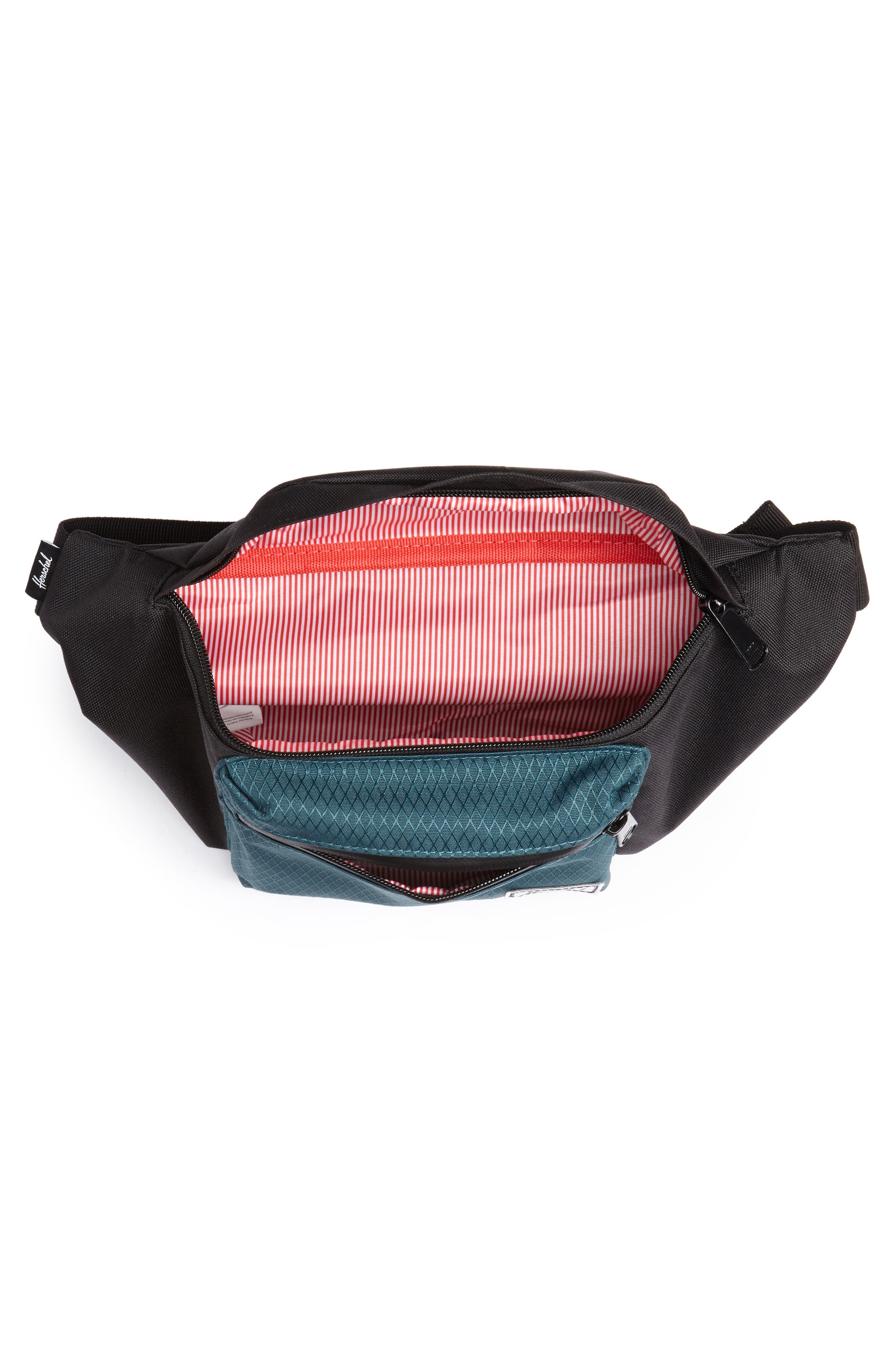 'Seventeen' Belt Bag,                             Alternate thumbnail 5, color,                             BLACK/ DEEP TEAL