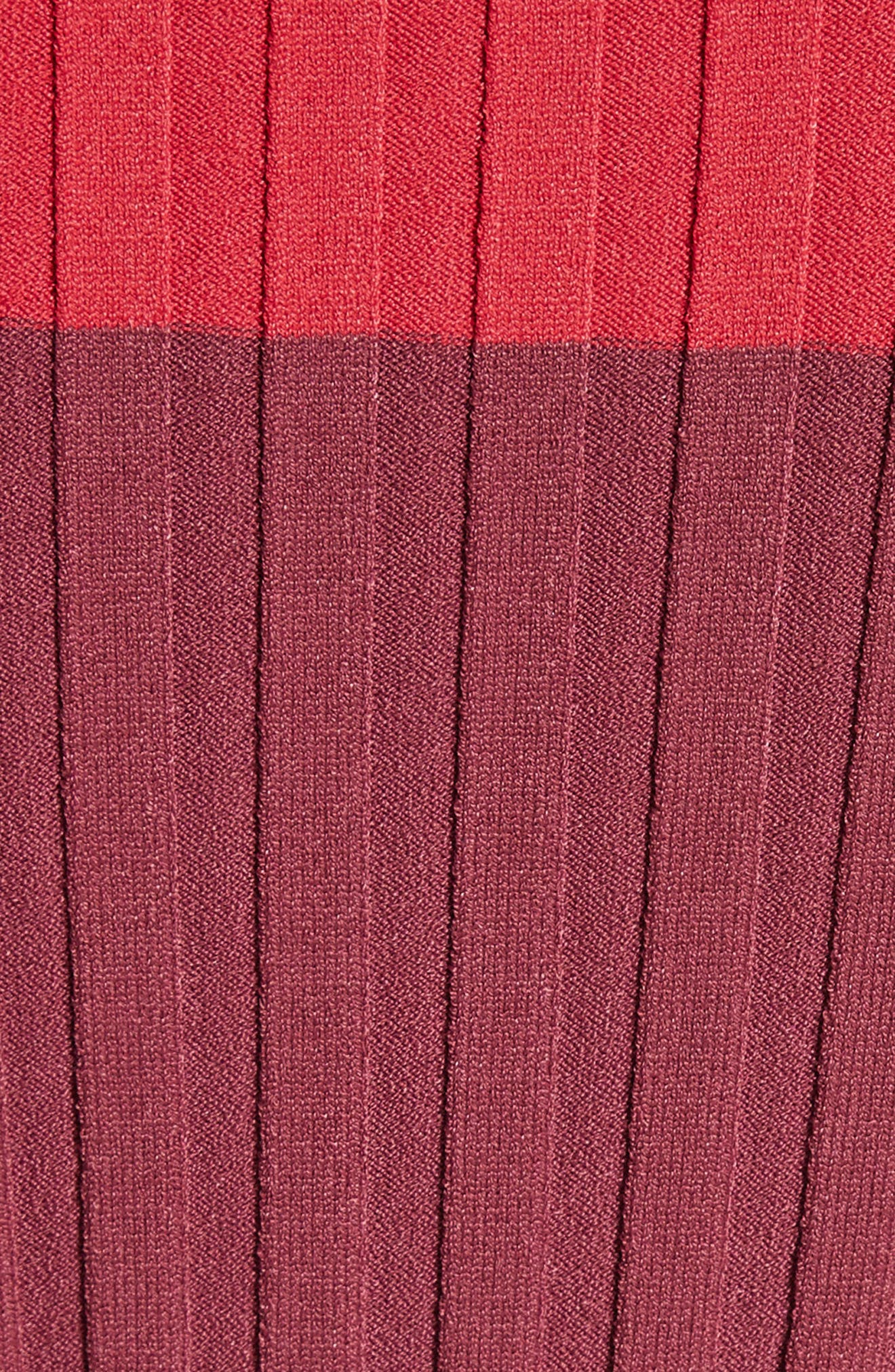 Leila Colorblock Knit Sweater,                             Alternate thumbnail 5, color,                             504