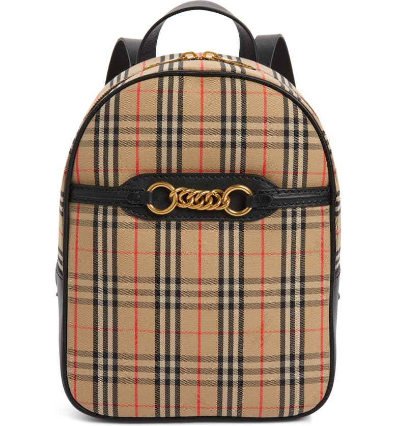28b912f6f79c Burberry Link Vintage Check Canvas Backpack