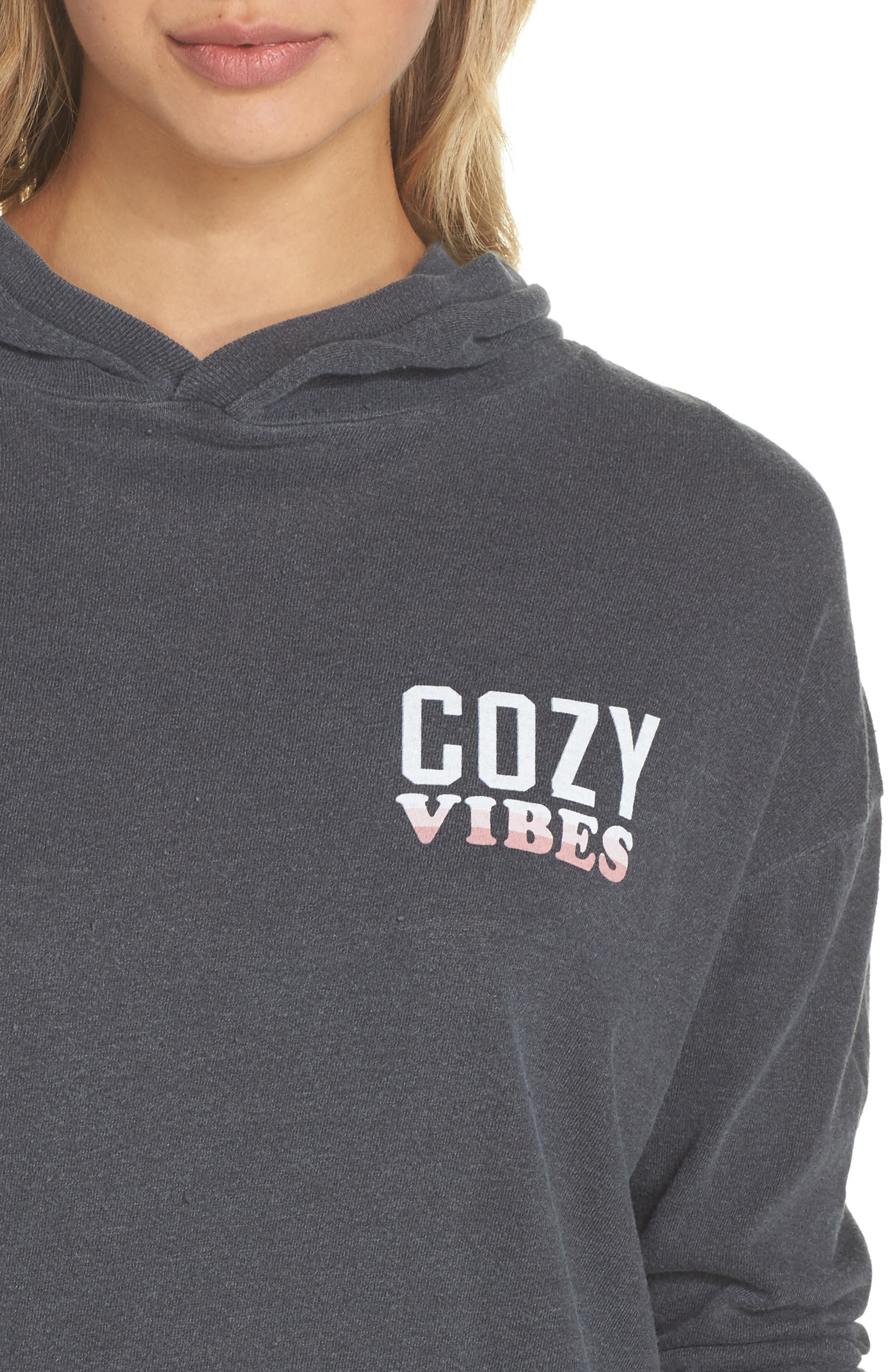 Cozy Vibes Lounge Hoodie,                             Alternate thumbnail 4, color,                             020