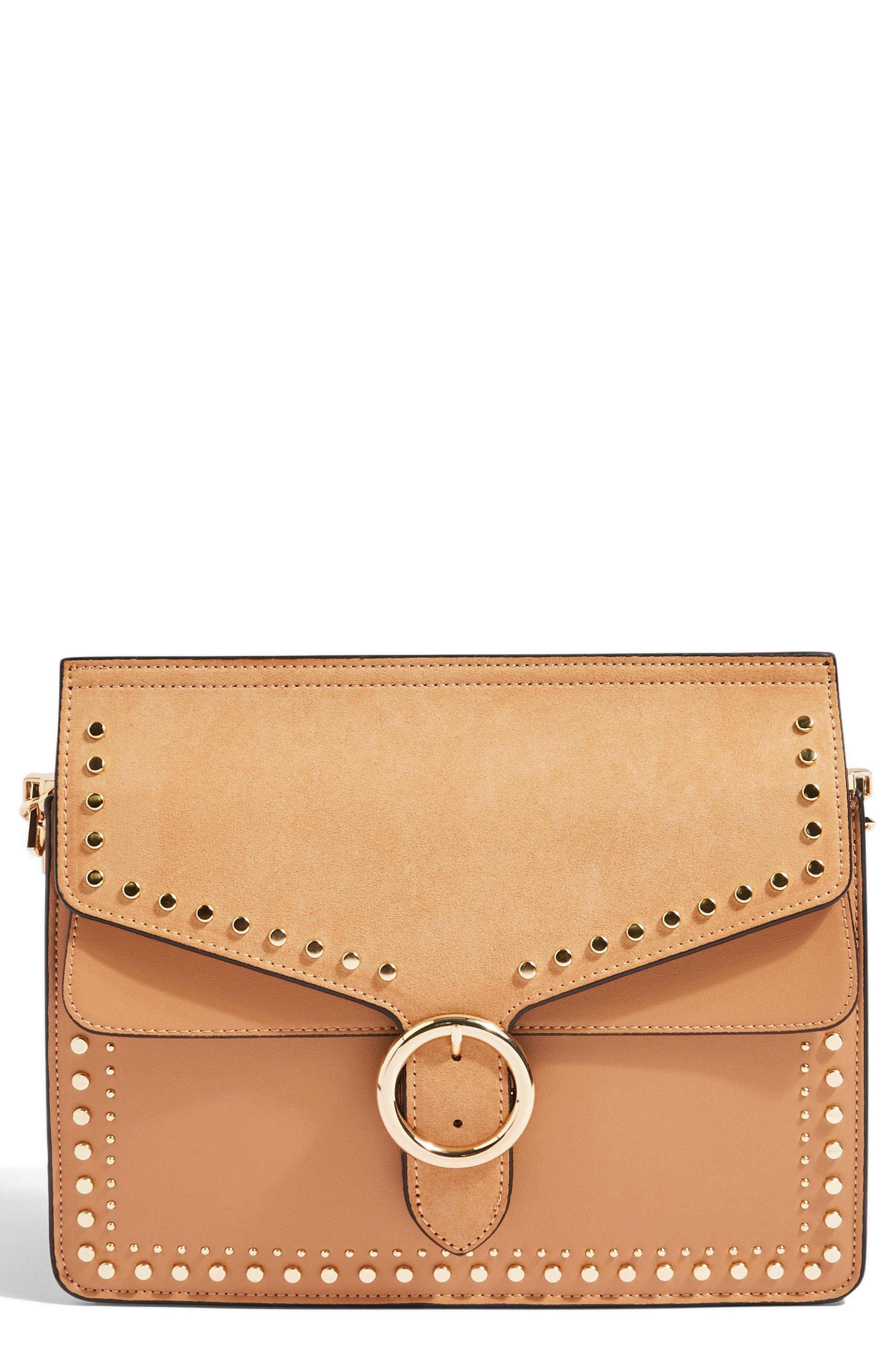 Peony Studded Shoulder Bag,                             Main thumbnail 2, color,