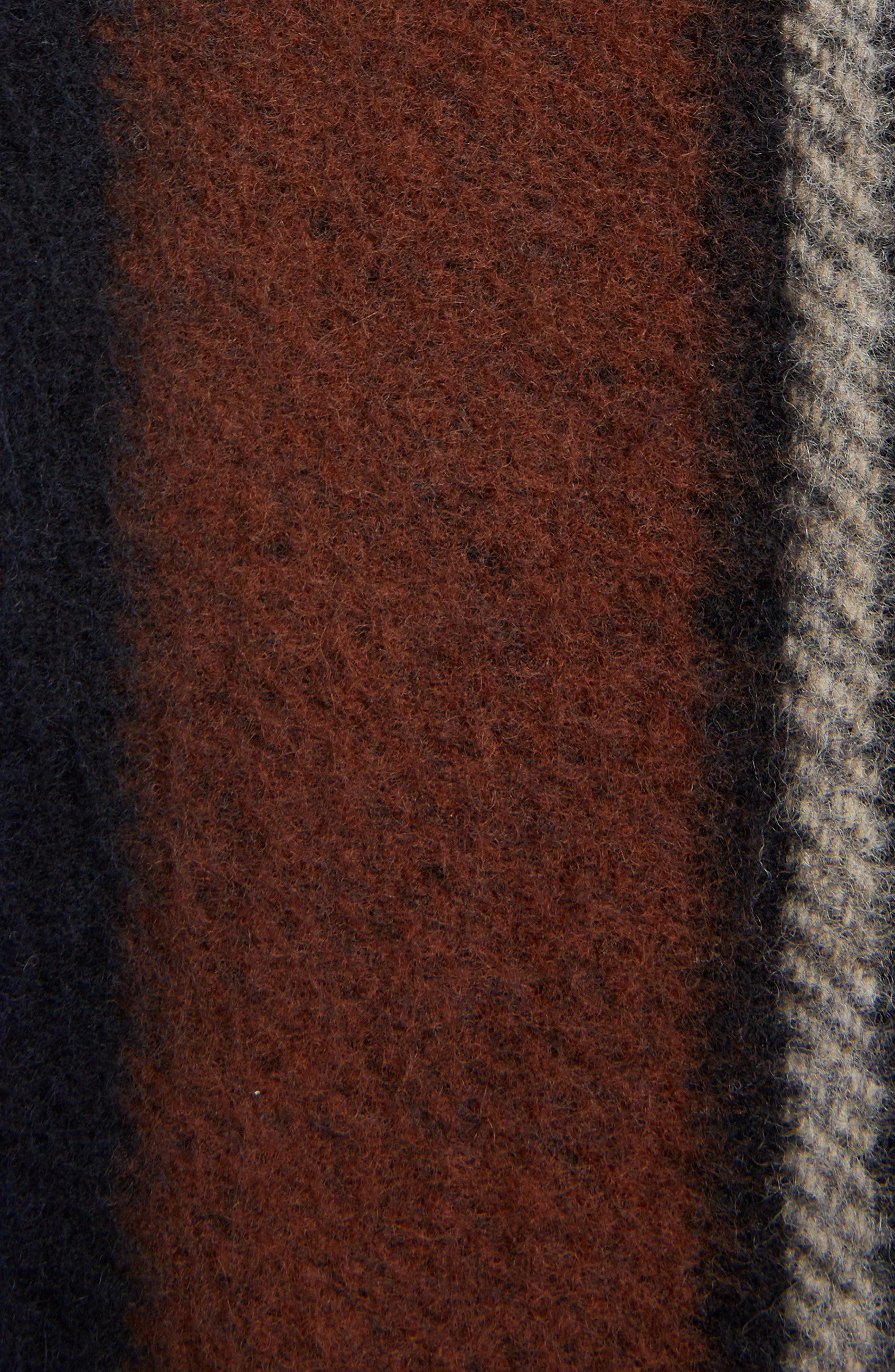 Plaid Fringe Trim Wool & Cashmere Jacket,                             Alternate thumbnail 5, color,                             467