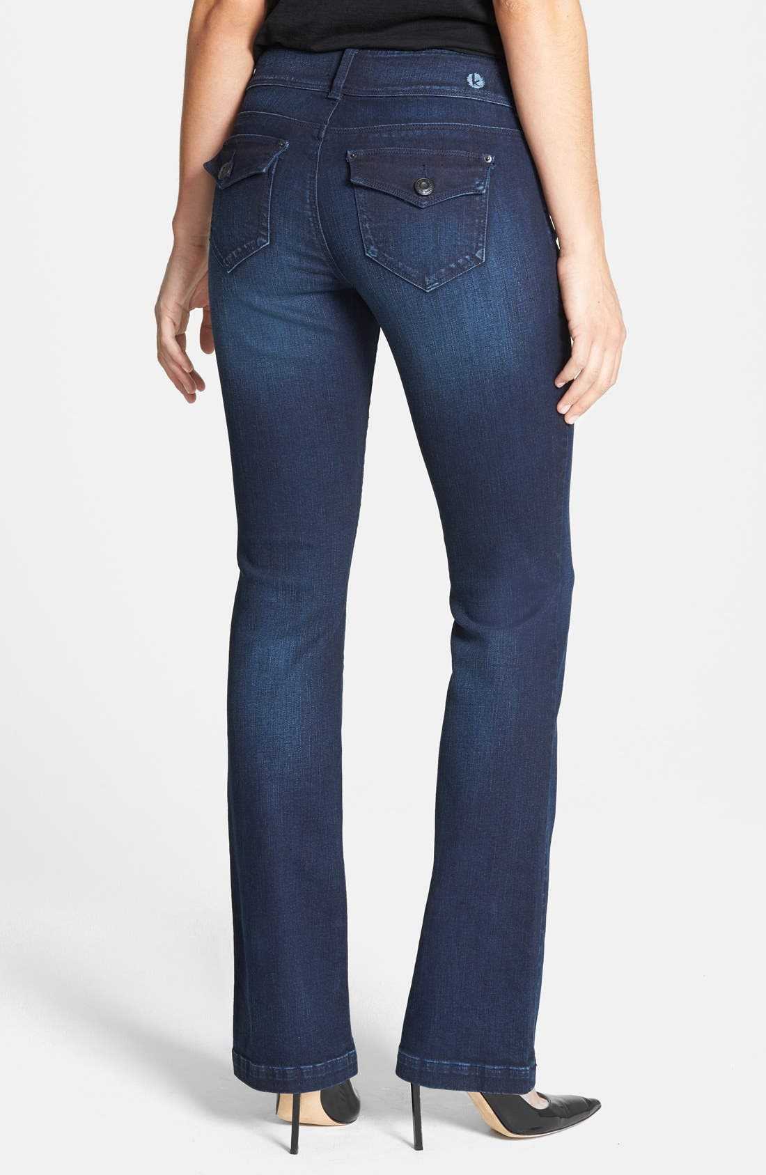Curvy Bootcut Jeans,                             Alternate thumbnail 3, color,                             432
