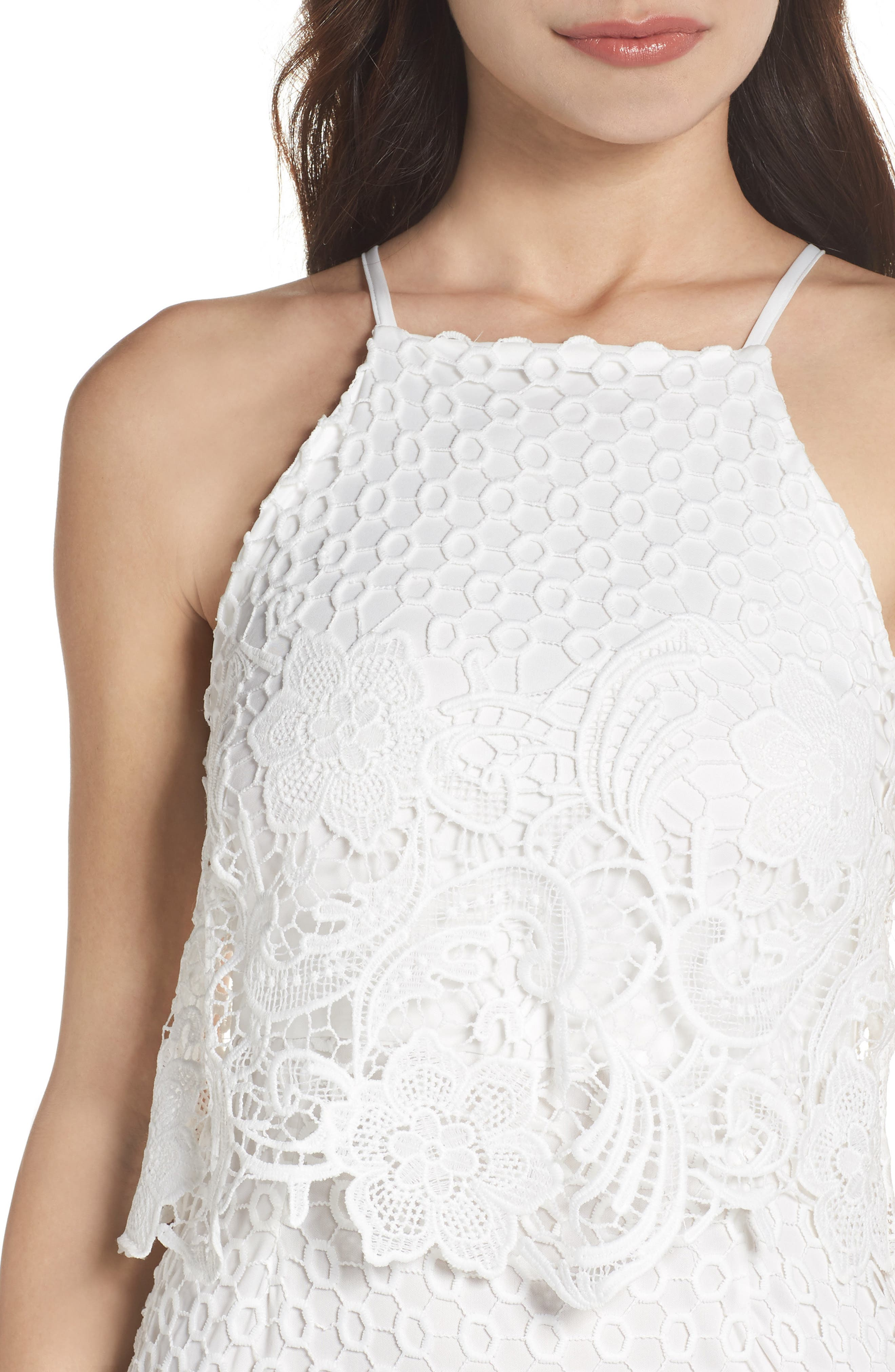Bryn Lace Halter Dress,                             Alternate thumbnail 8, color,