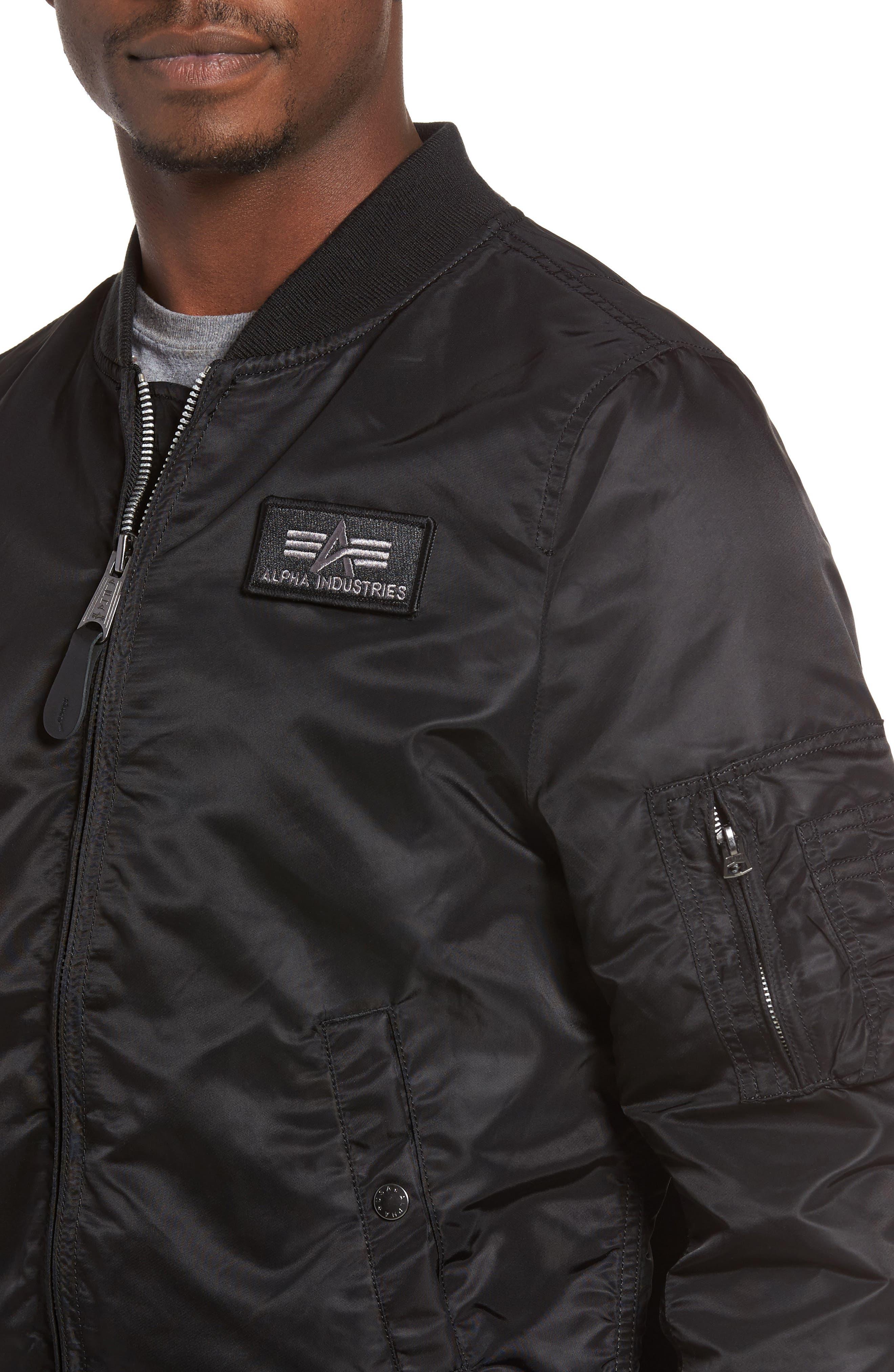 Lightweight L2-B Flight Jacket with Knit Hood,                             Alternate thumbnail 13, color,