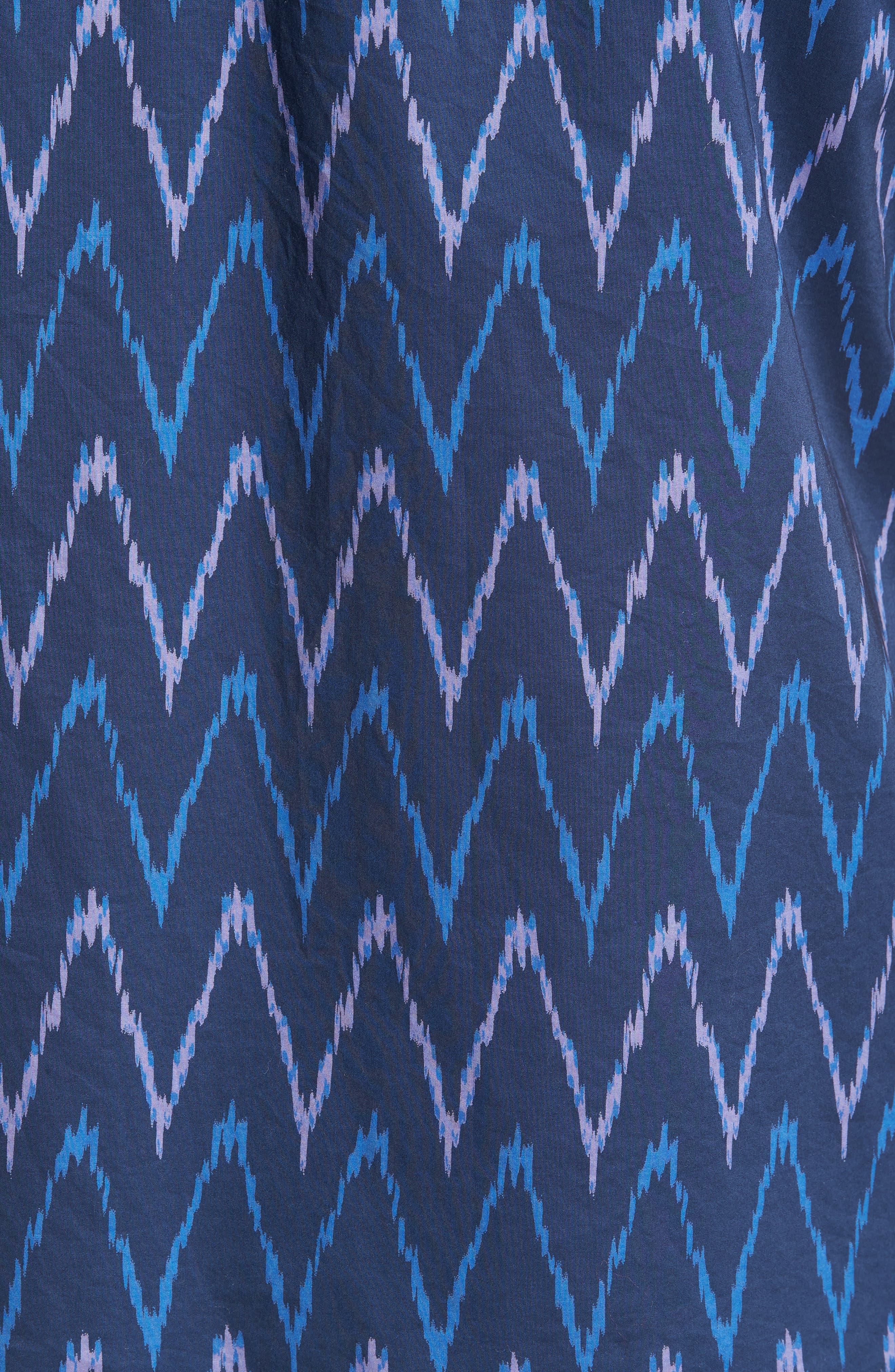 Riviera Slim Fit Ikat Print Sport Shirt,                             Alternate thumbnail 5, color,                             400