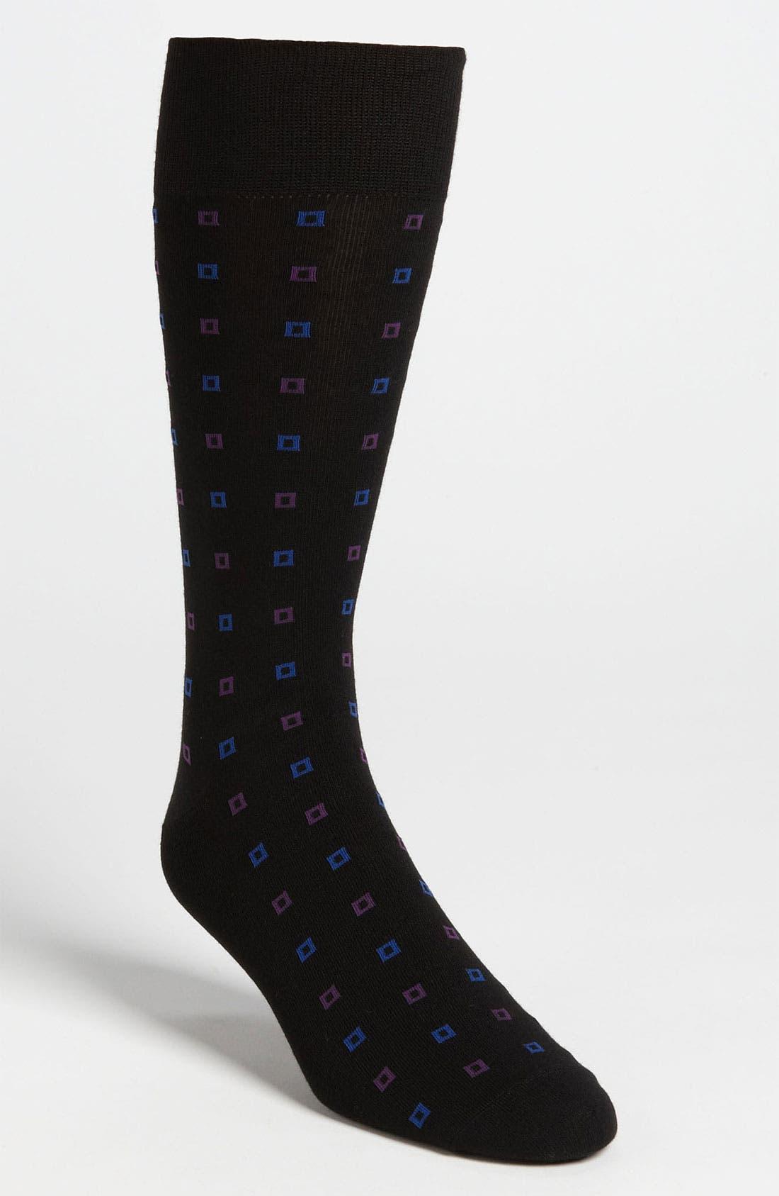 VINCE CAMUTO,                             Square Pattern Socks,                             Main thumbnail 1, color,                             001